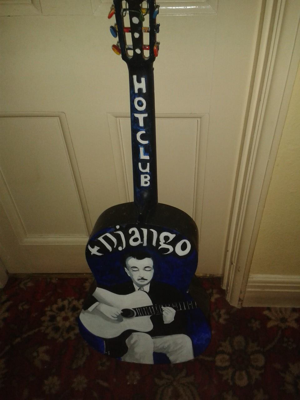 Django art on guitar