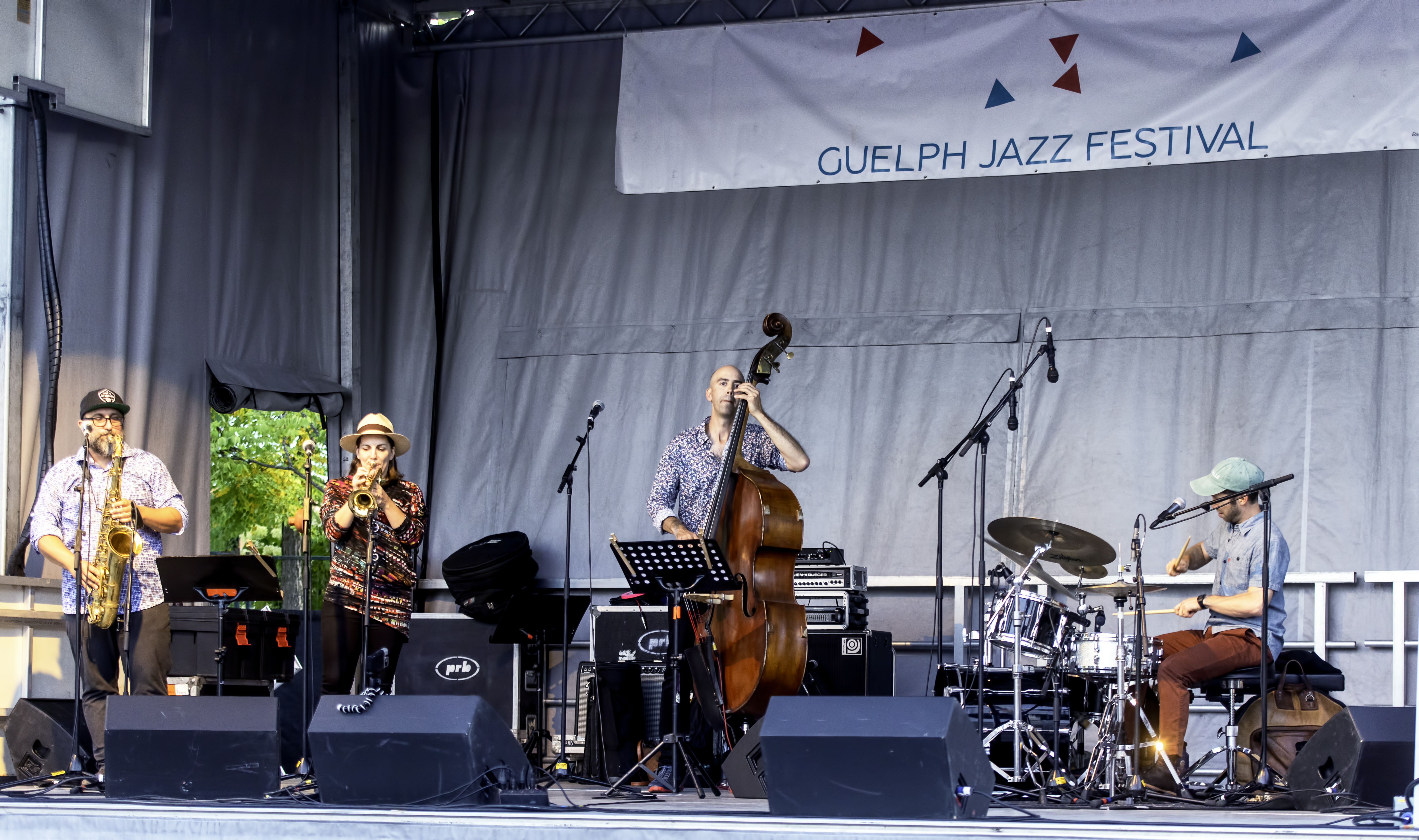 Petr Cancura, Rebecca Hennessy, Michael Herring And Richie Barshay With Way North At The Guelph Jazz Festival 2019