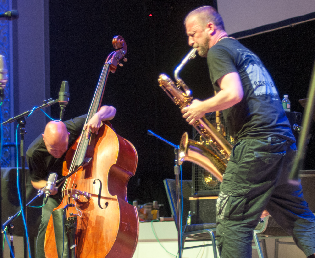 Mats Gustafsson And Ingebrigt Haker Flaten With The Thing At The Vision Festival 2012