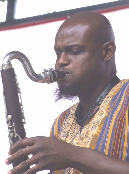 David Boykin with Nicole Mitchell's Black Earth Ensemble at 2010 Chicago Jazz Festival