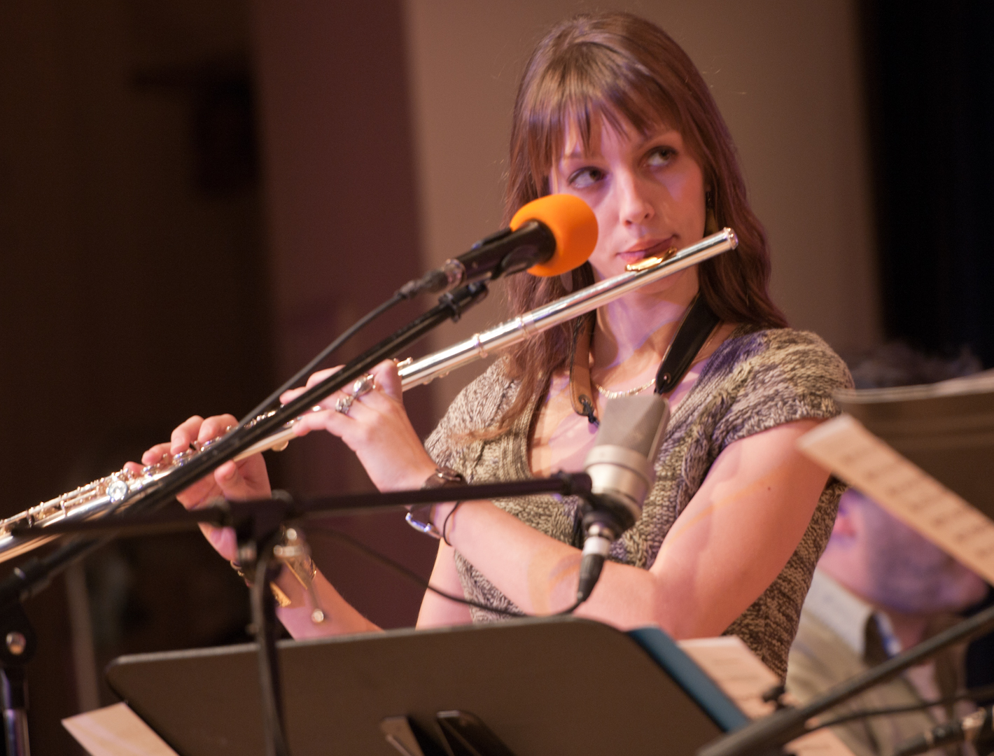 Hailey Niswanger with the Either/Orchestra at the New School for Jazz