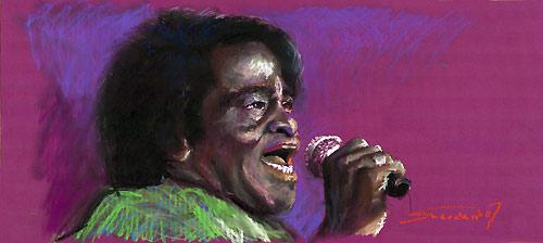 James Brown.Pastel on Paper.33x70cm.2007.WWW.Shevchuk.Eu