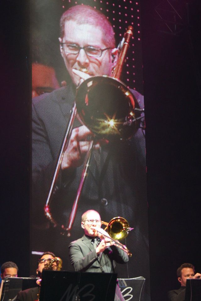 Nick Vayenas Performing with Michael Buble