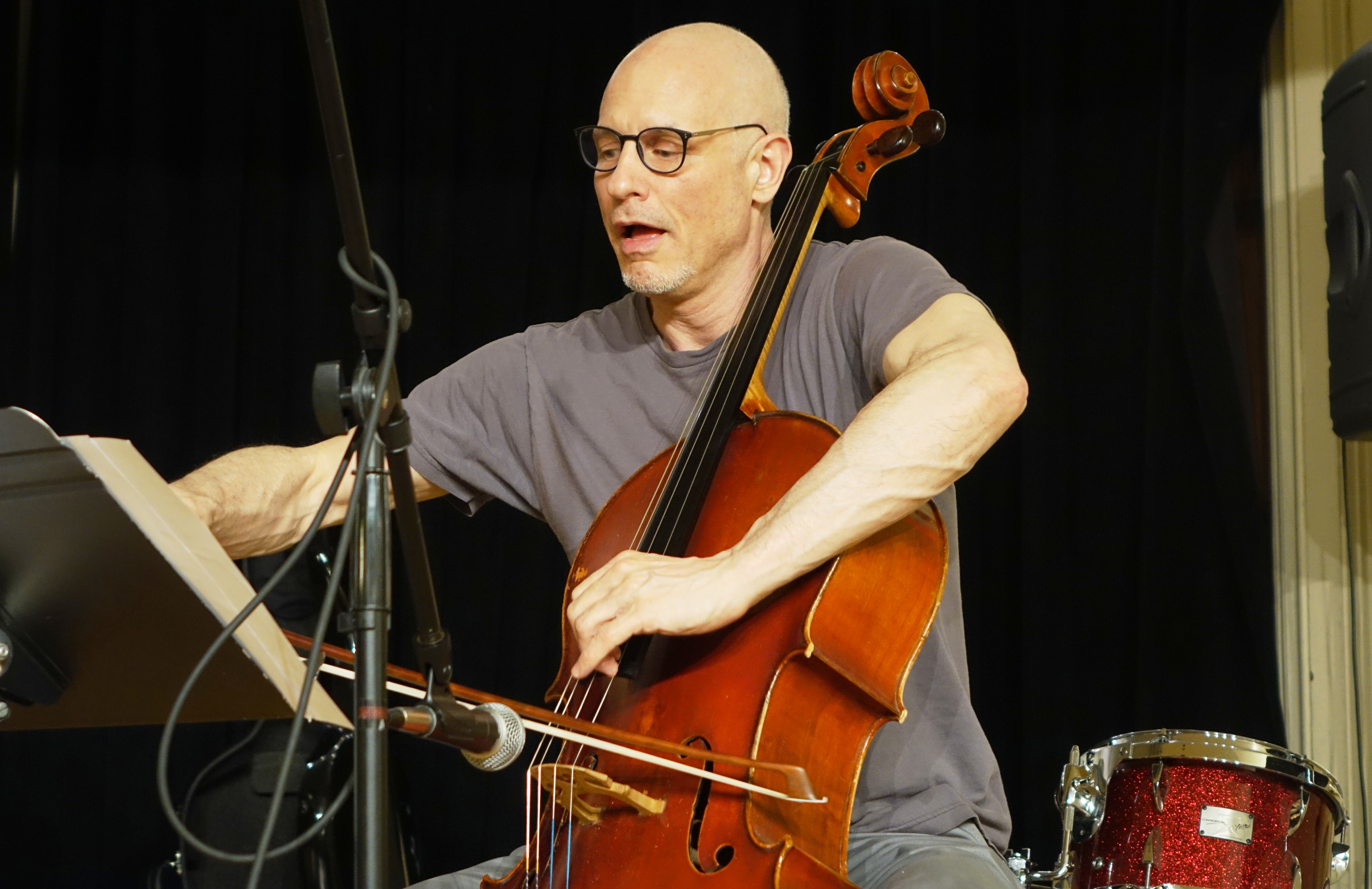 Erik Friedlander at the Brooklyn Conservatory of Music in May 2018
