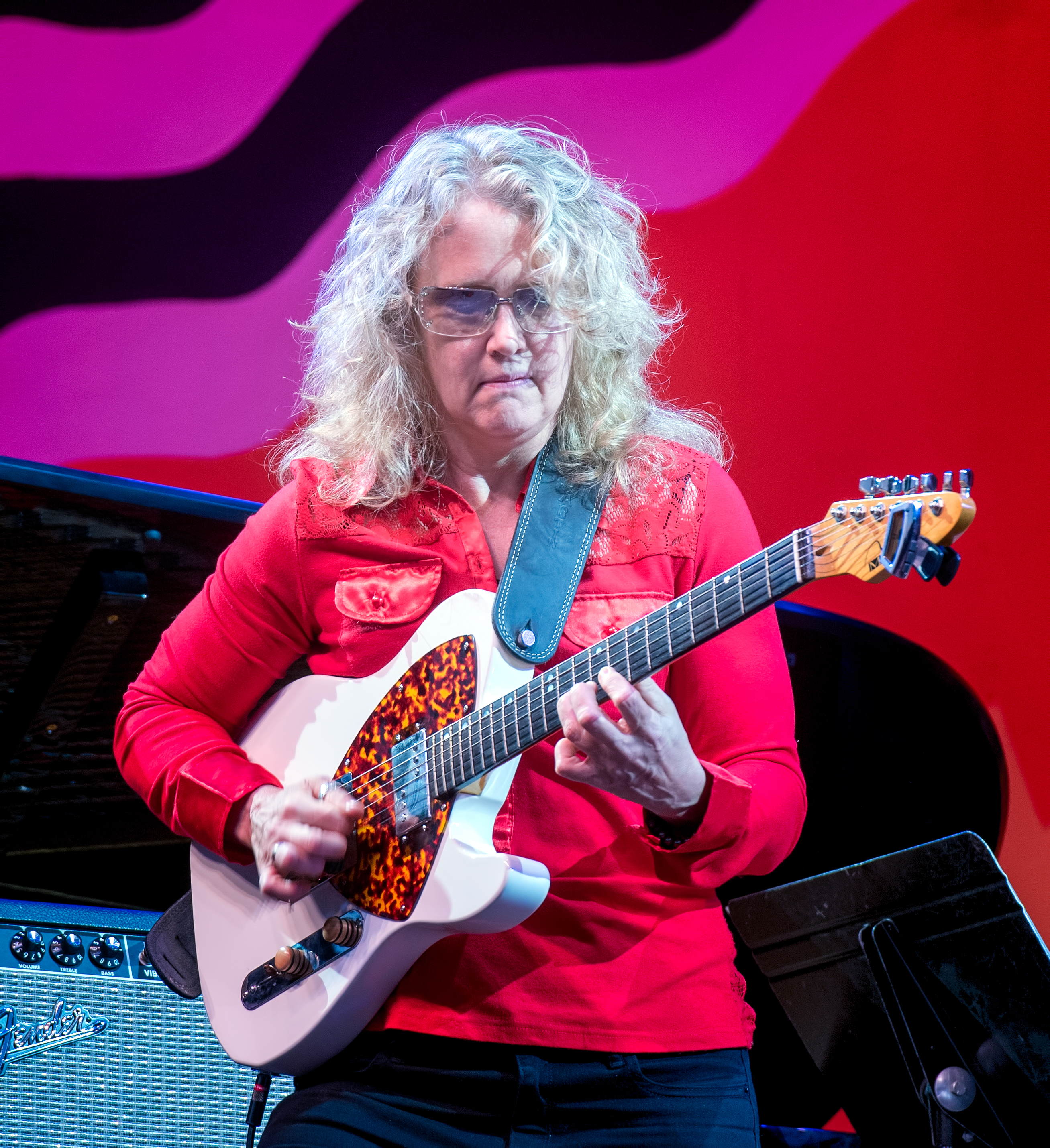 Sheryl Bailey with the Anat Cohen Tentet at the Monterey Jazz Festival 2018