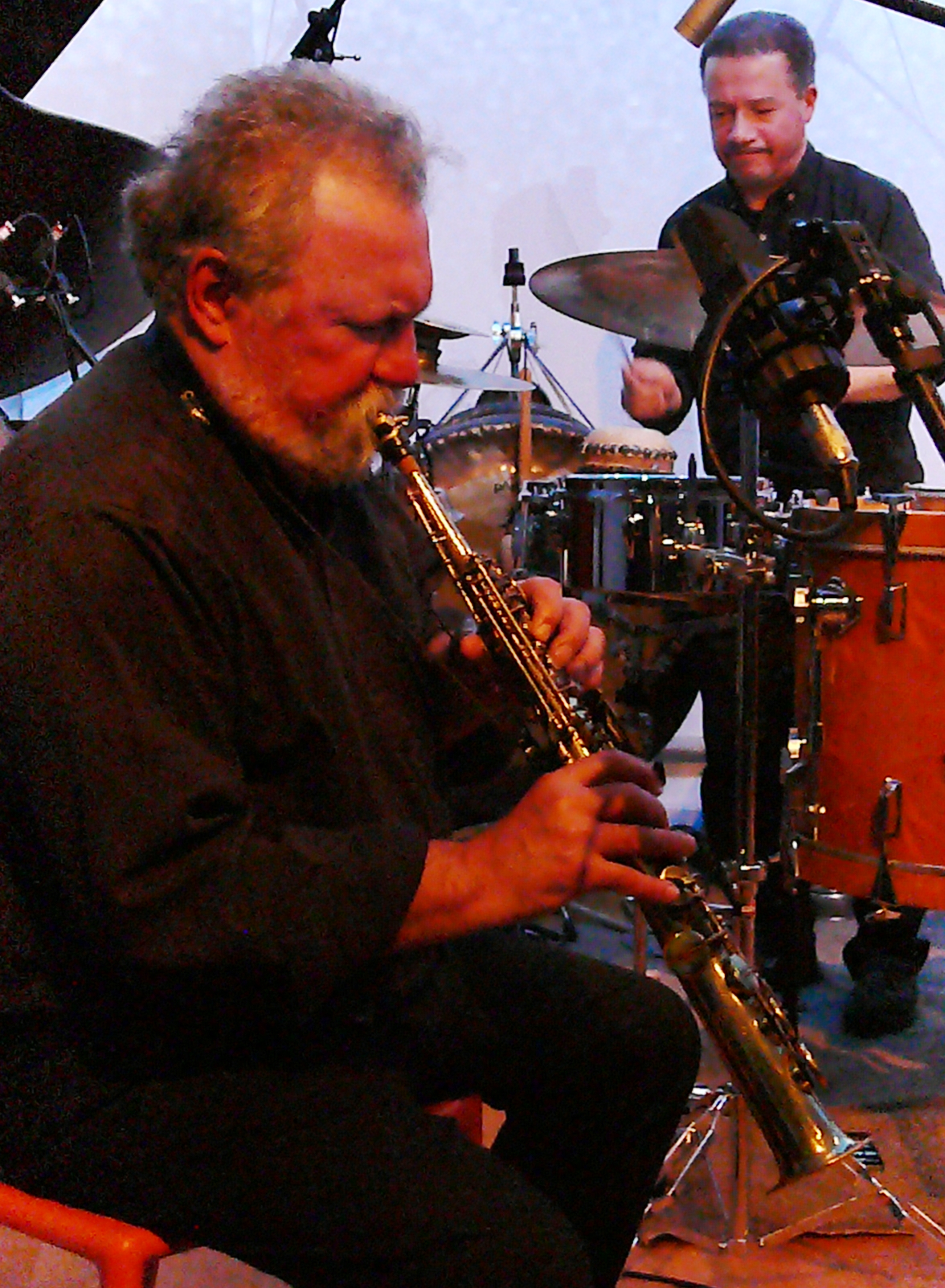 Evan Parker and Mark Sanders at Iklectik, London in November 2016