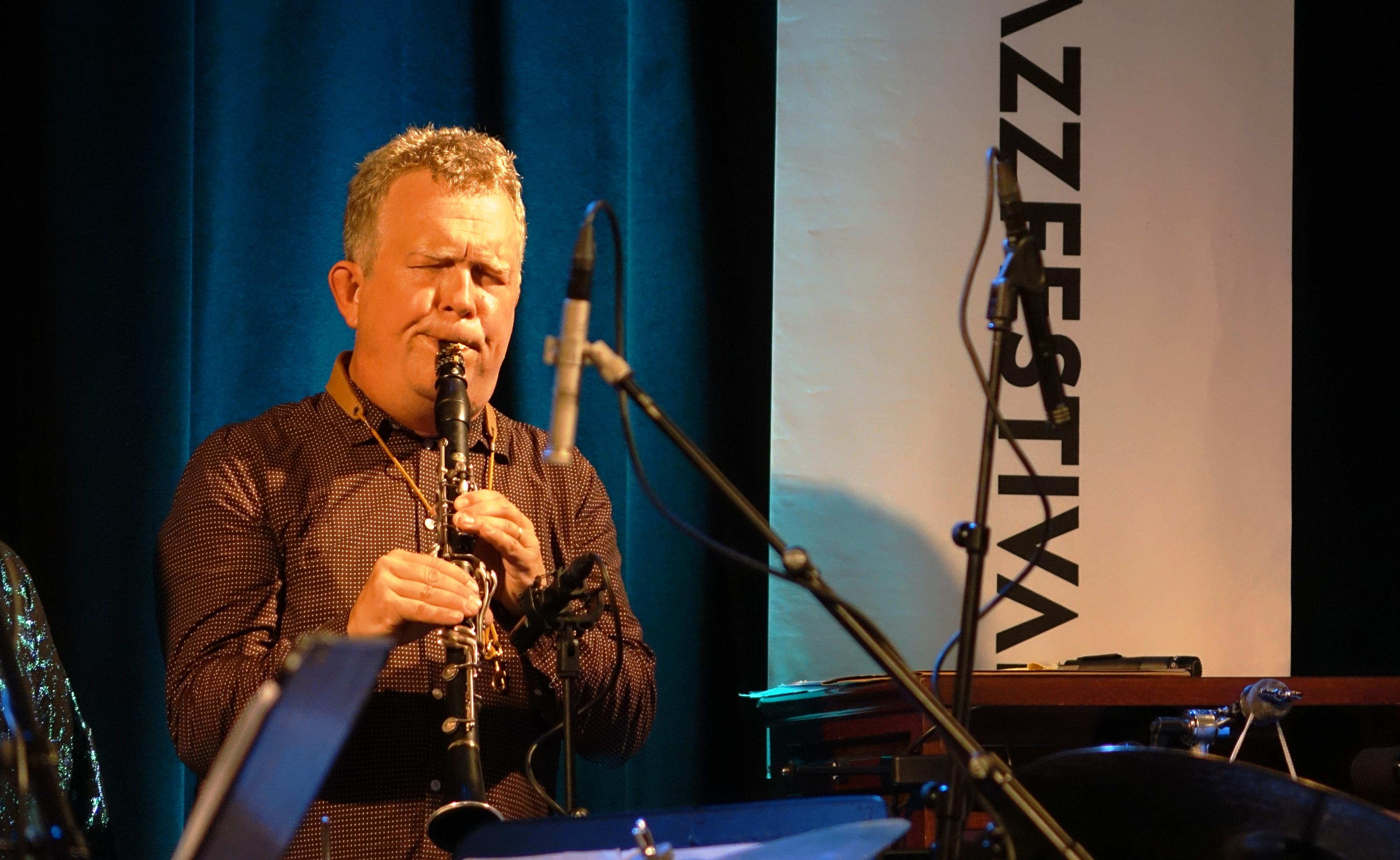 Fredrik Ljungjvist at Nasjonal Jazzscene Victoria, Oslo in August 2018