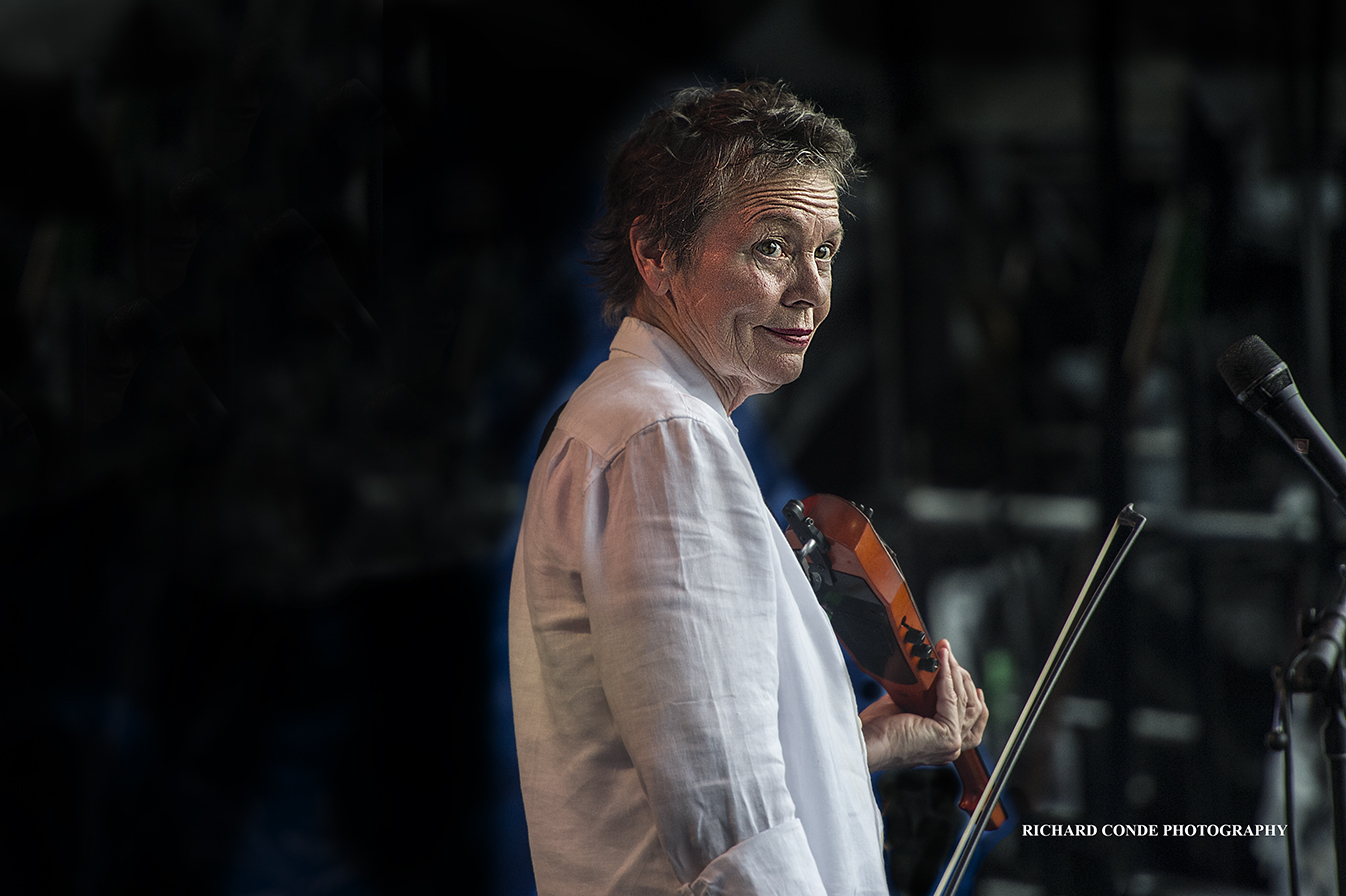 Laurie Anderson at the 2018 Newport Jazz Festival
