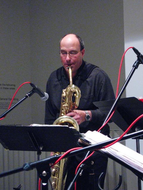 Jon Raskin from Rova Saxophone Quartet - Cue Art Foundation 2007