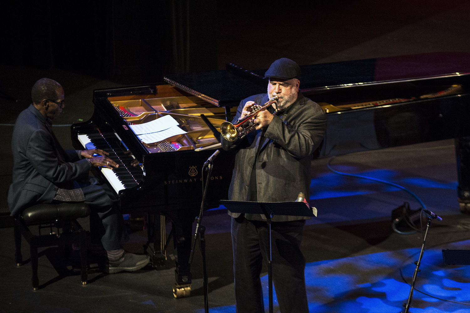 George Cables, Randy Brecker at San Jose Jazz Summer Fest 2017