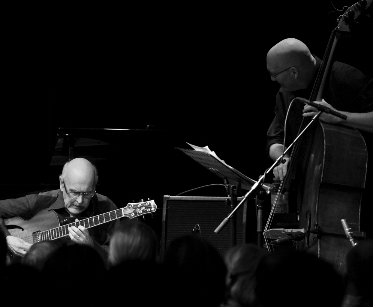 Jim Hall and Scott Colley at a Concert on Valby Summer Jazz 2012