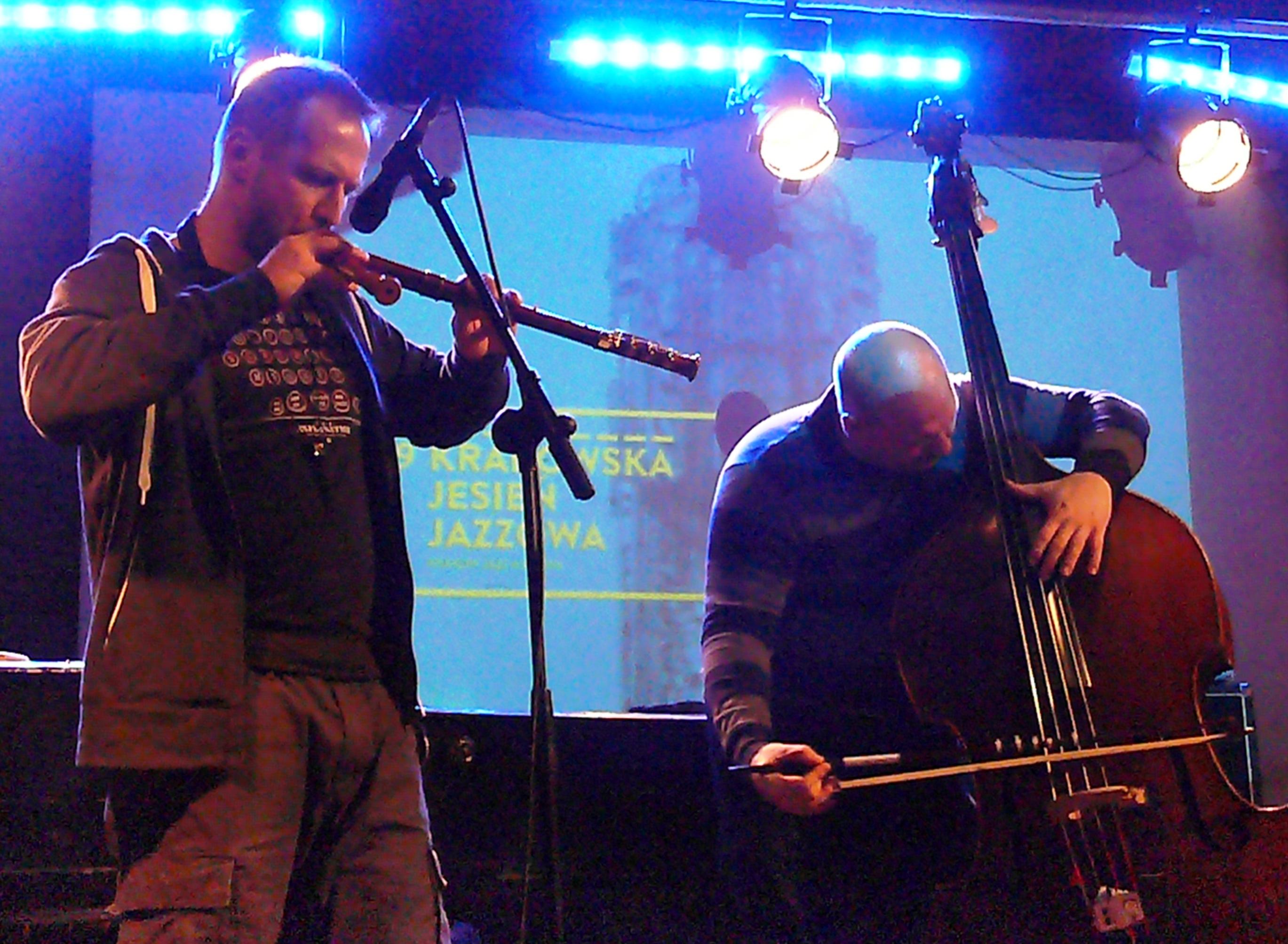 Dominik Strycharski and Ksawery Wojcinski at Alchemia, Krakow in November 2014