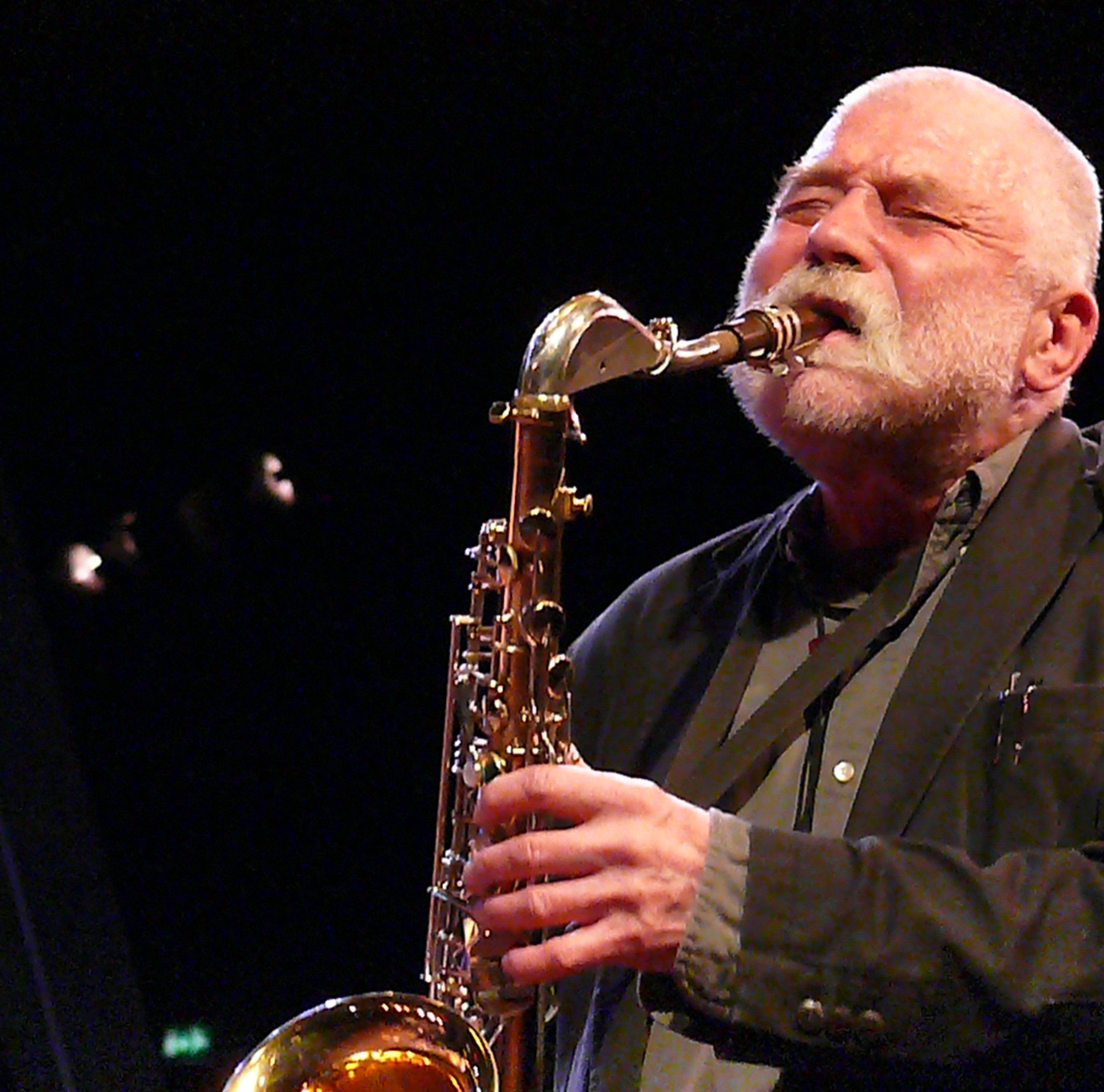 Peter Brotzmann at the Bimhuis in Amsterdam, 13 February 2009