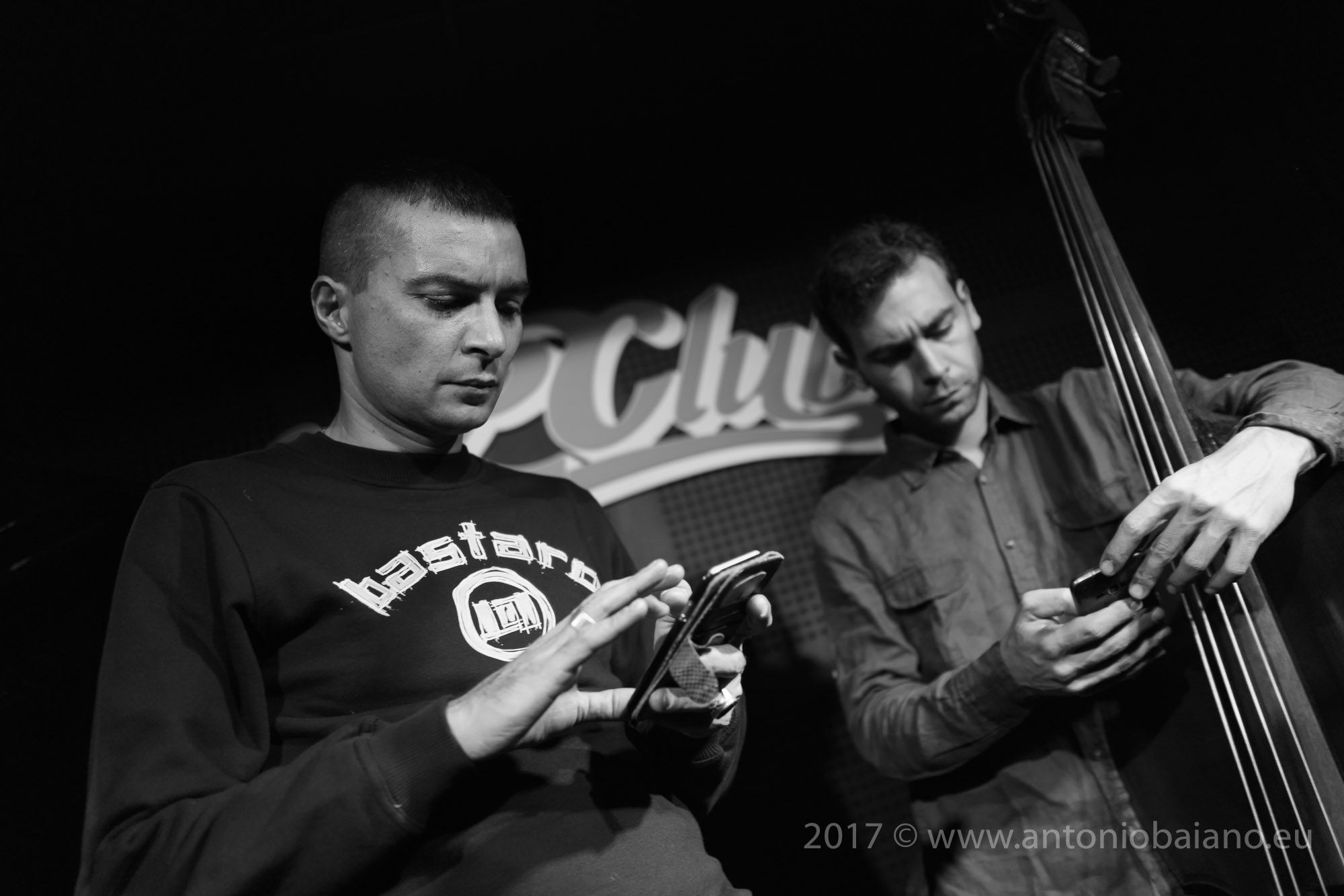 Gianluca Petrella and Francesco Ponticelli, sound check - Rava Tribe