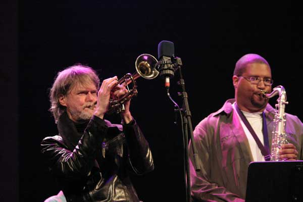 "Tom Harrell and Jimmy Greene with the ""Tom Harrell Quintet"" at the Amr Jazz Festival, Alhambra, Geneva, Switzerland, 2005"