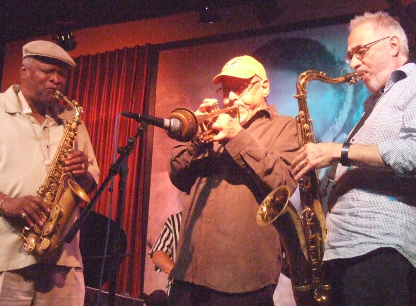 Bobby Watson, Ira Sullivan, Pat Labarbera at Joe Segal's Jazz Showcase Following Chicago Jazz Festival, 9/3/11