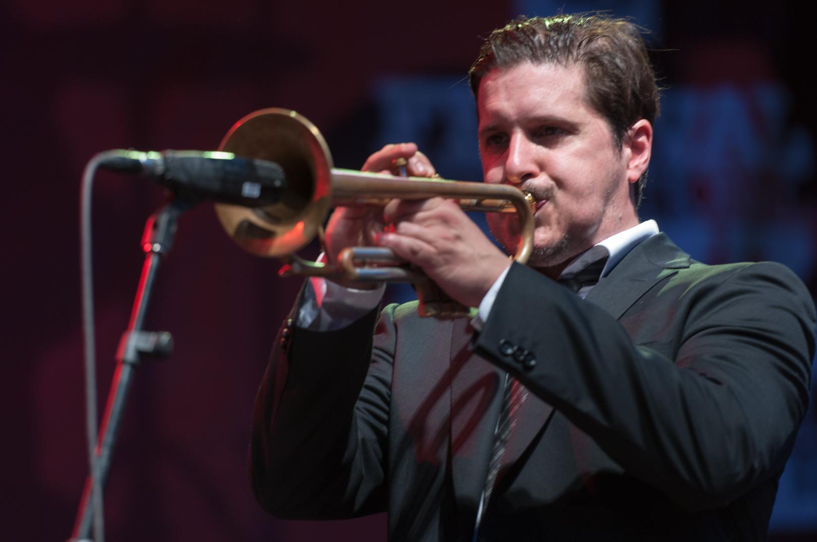 William Sperandei with Tyler Yarema at the Montreal International Jazz Festival 2012