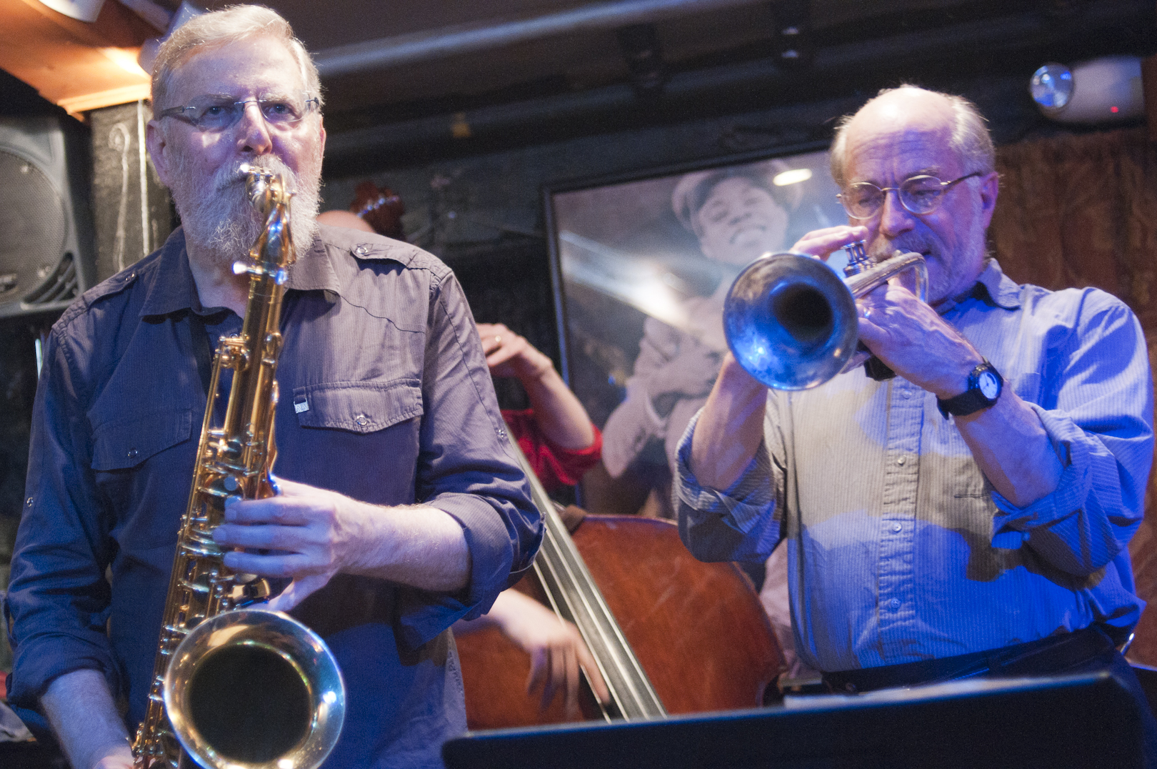 Lew Tabackin and John Eckert with the Lew Tabackin Quartet at Smalls Jazz Club
