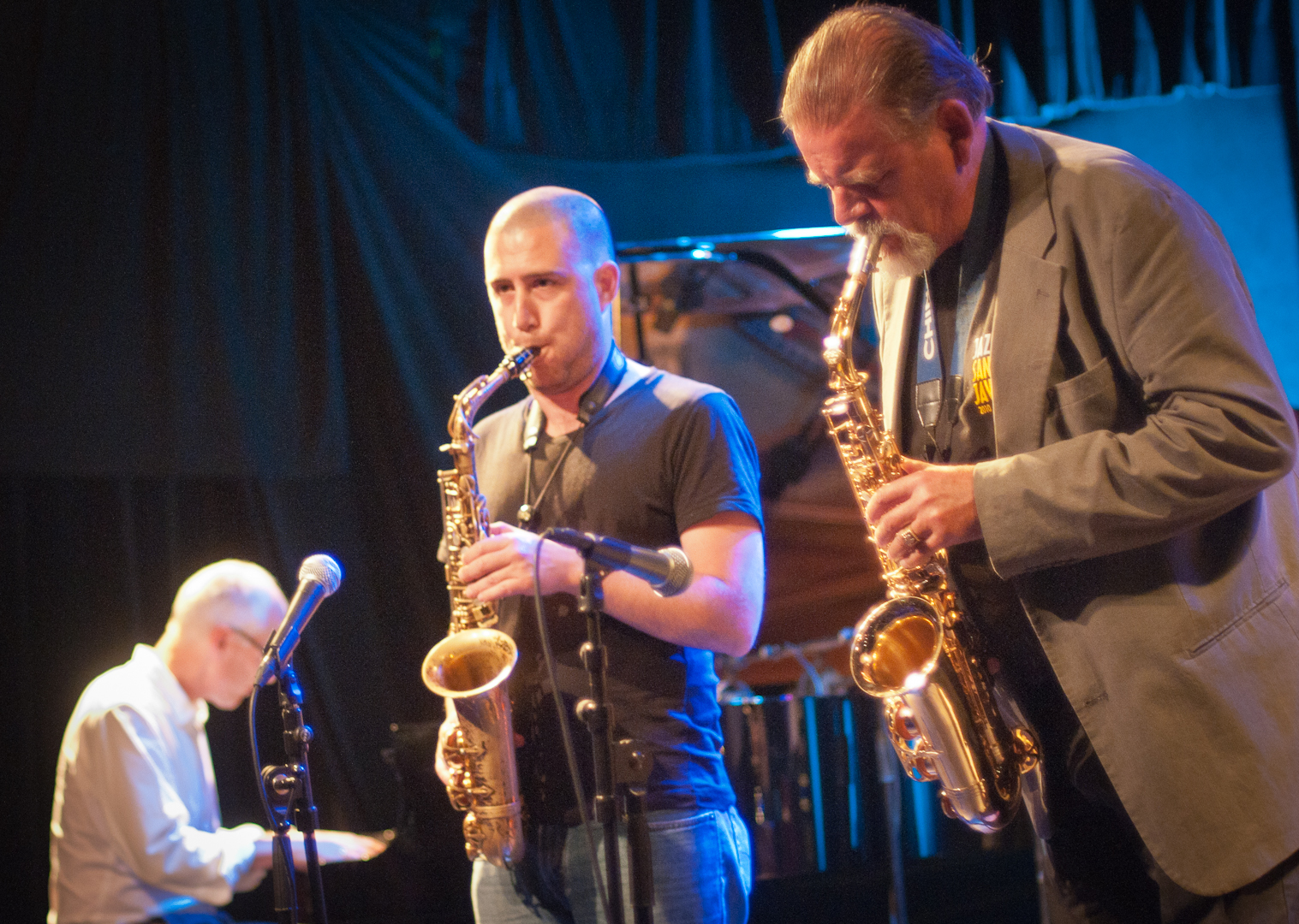 Rune Klakegg, Guy Sion and Bernt Brinck-Johnsen at the Oslo Jazz Festival Jam Sessions
