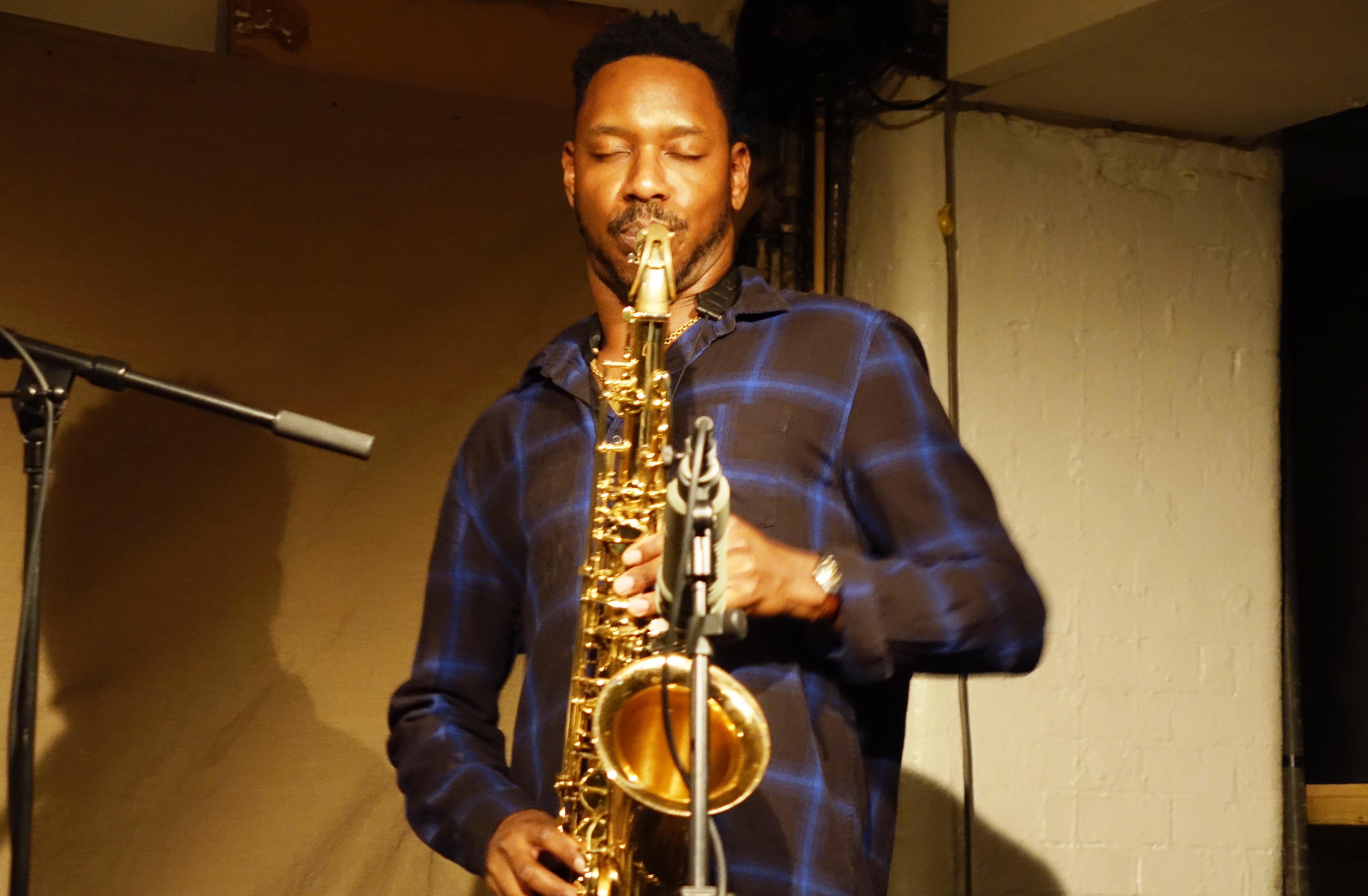 Shabaka Hutchings at Cafe Oto, London in April 2018
