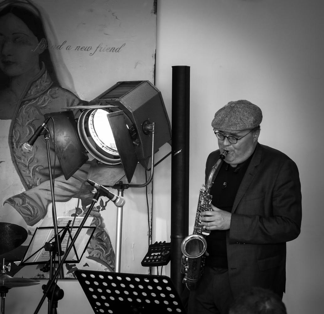 Koppel & Son (Benjamin Koppel) at a recording session in Copenhagen, Denmark