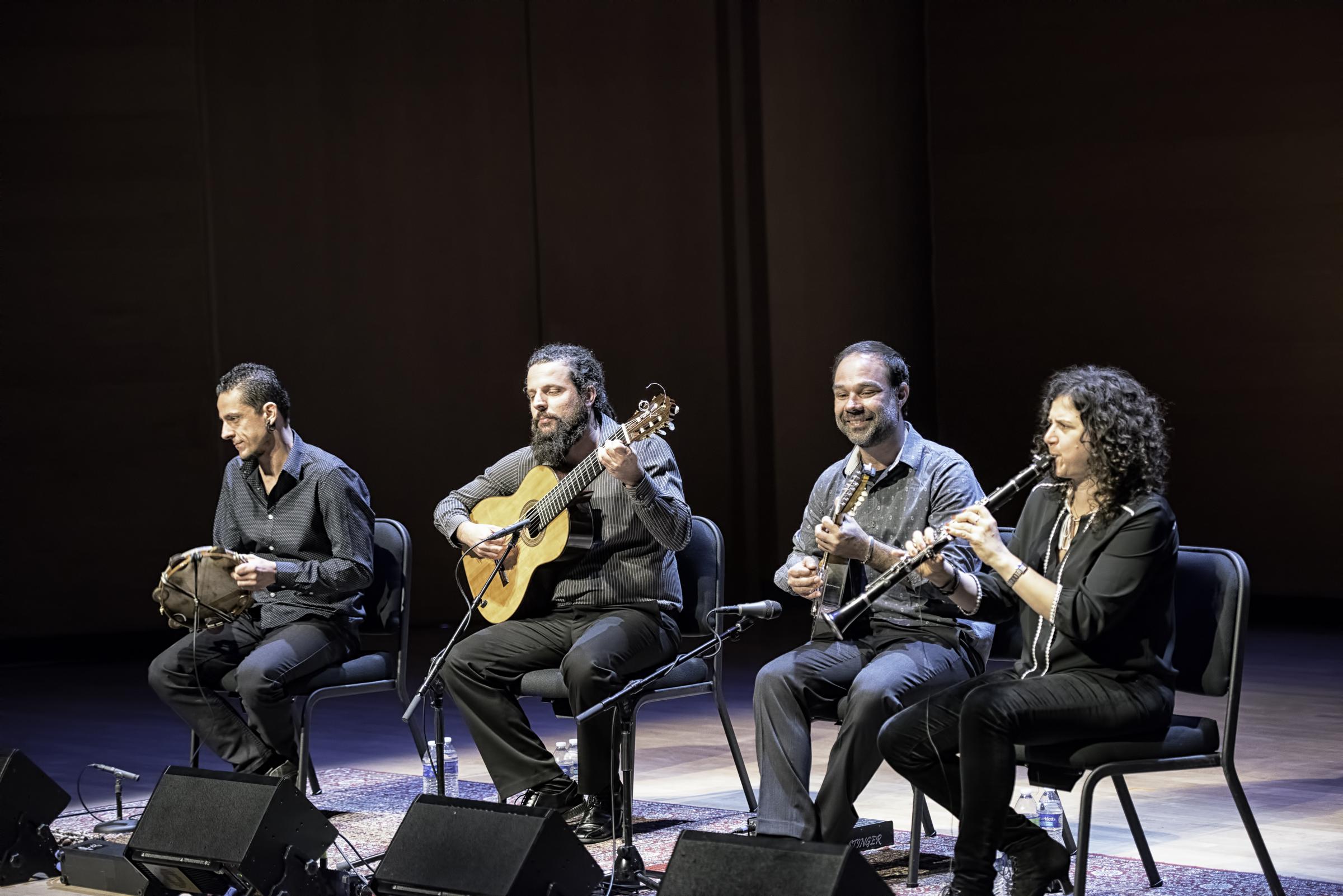 Alexandre Lora, Douglas Lora, Dudu Maia And Anat Cohen With Trio Brasileiro At The Musical Instrument Museum (mim) In Phoenix