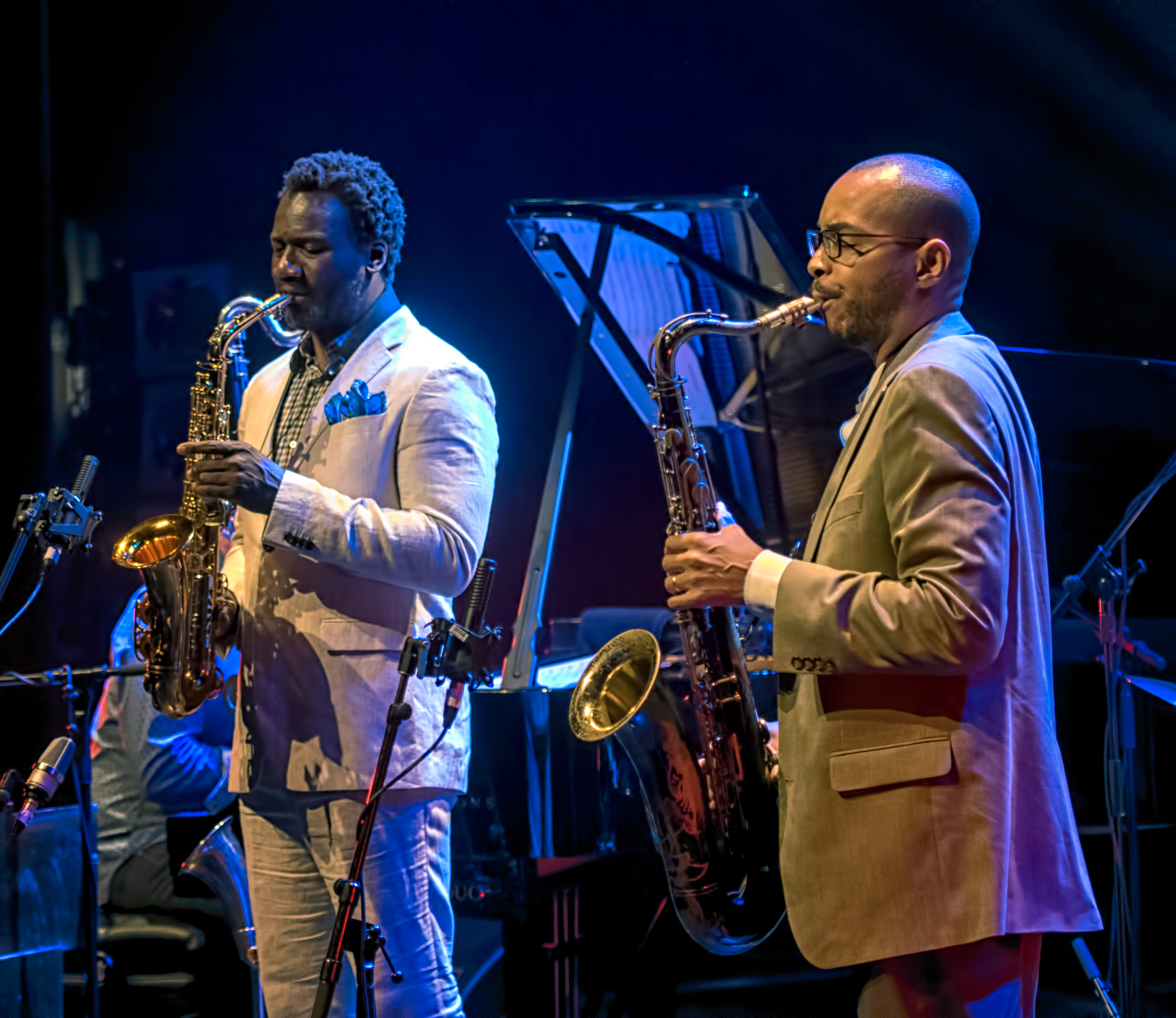 Myron Walden and Melvin Butler with Brian Blade And The Fellowship Band At The Montreal International Jazz Festival 2018