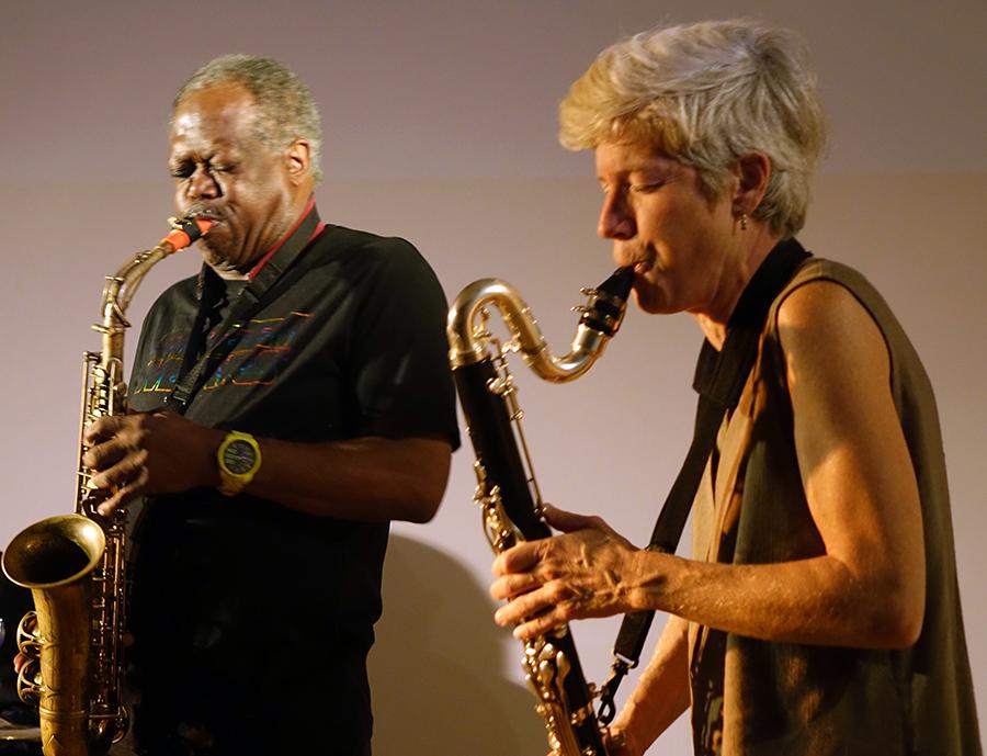 Joe Mcphee and Lori Freedman at Guelph 2014