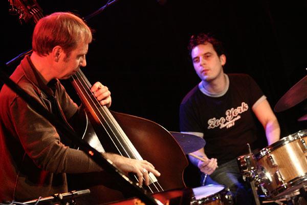 "Drew Gress and Jochen Rueckert with the ""Marc Copland Trio"" at the Sud Des Alpes, Amr, Geneva, Switzerland, 2005"