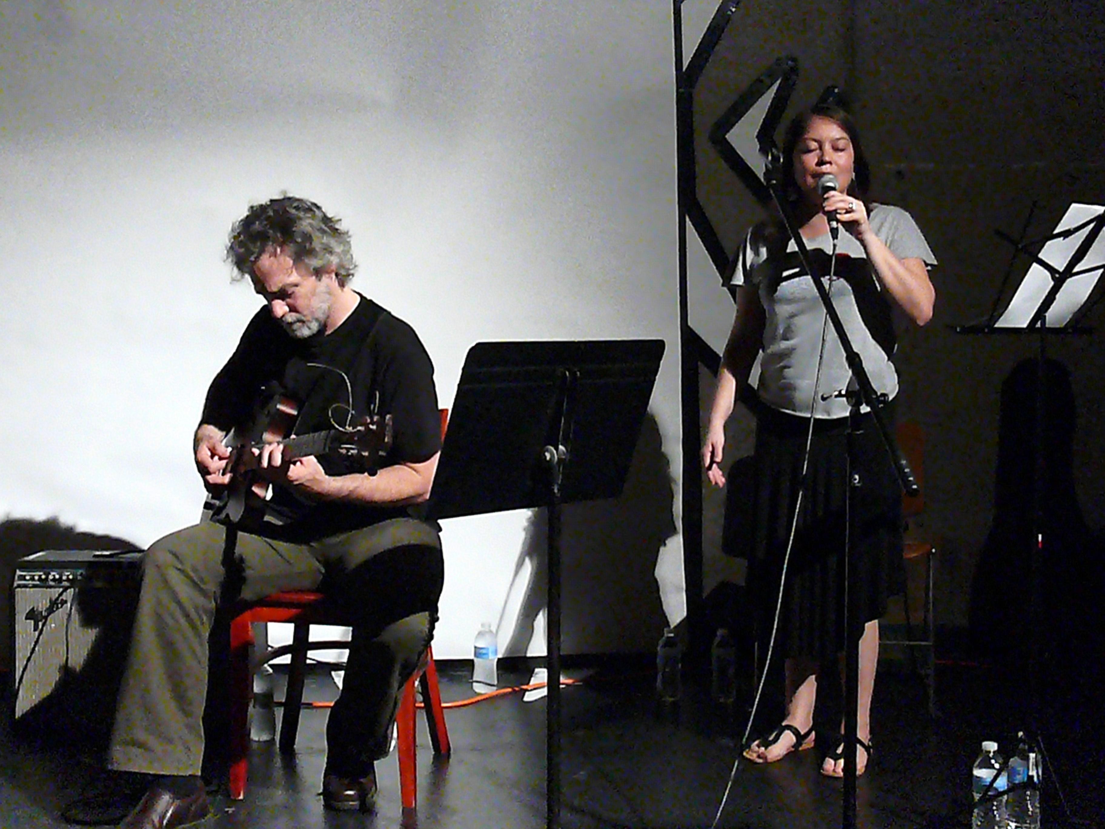 Joe Morris and Jean Carla Rodea at the 2010 Vision Festival in New York
