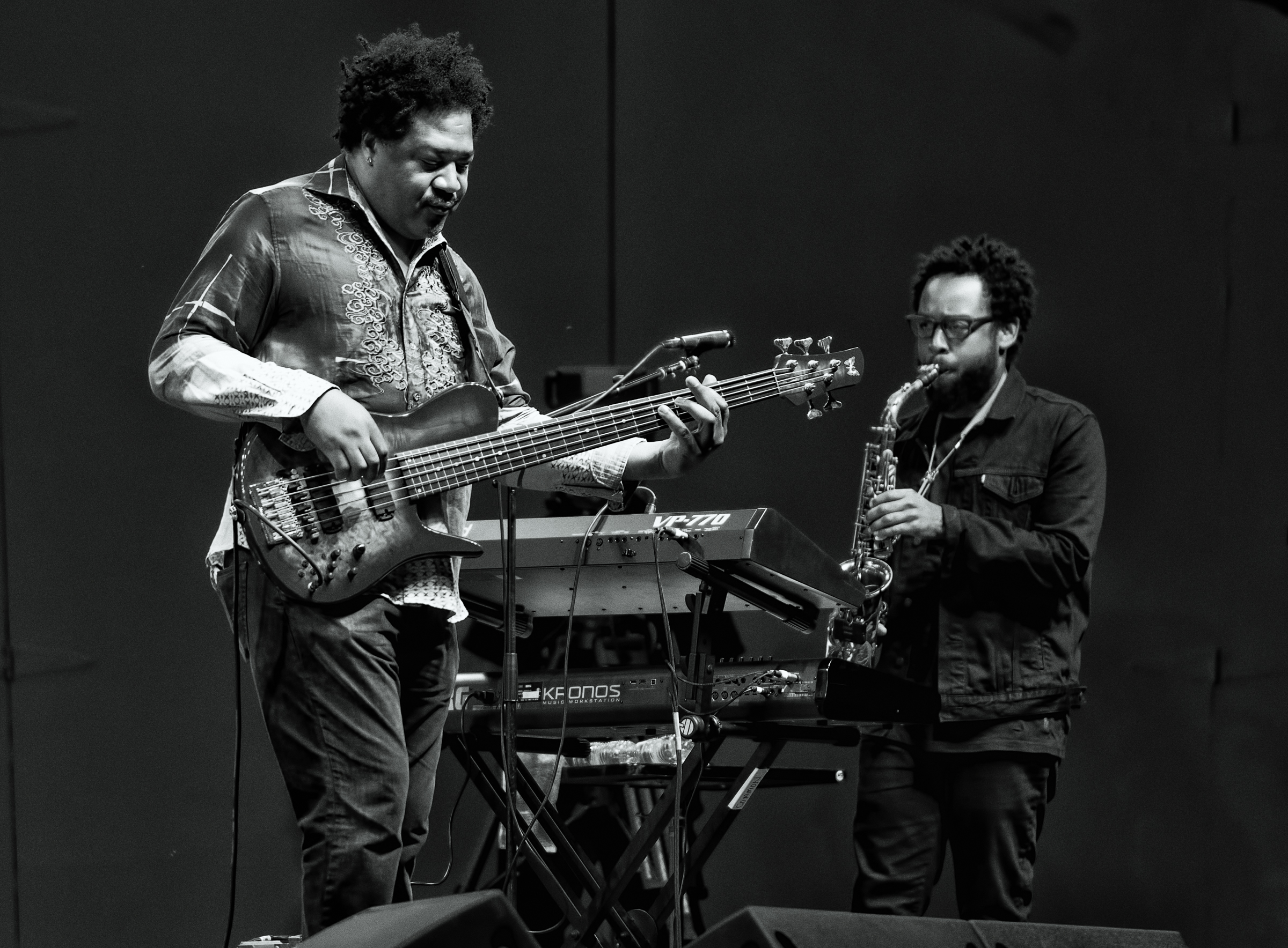 James Genus and Terrace Martin with Herbie Hancock at the Monterey Jazz Festival