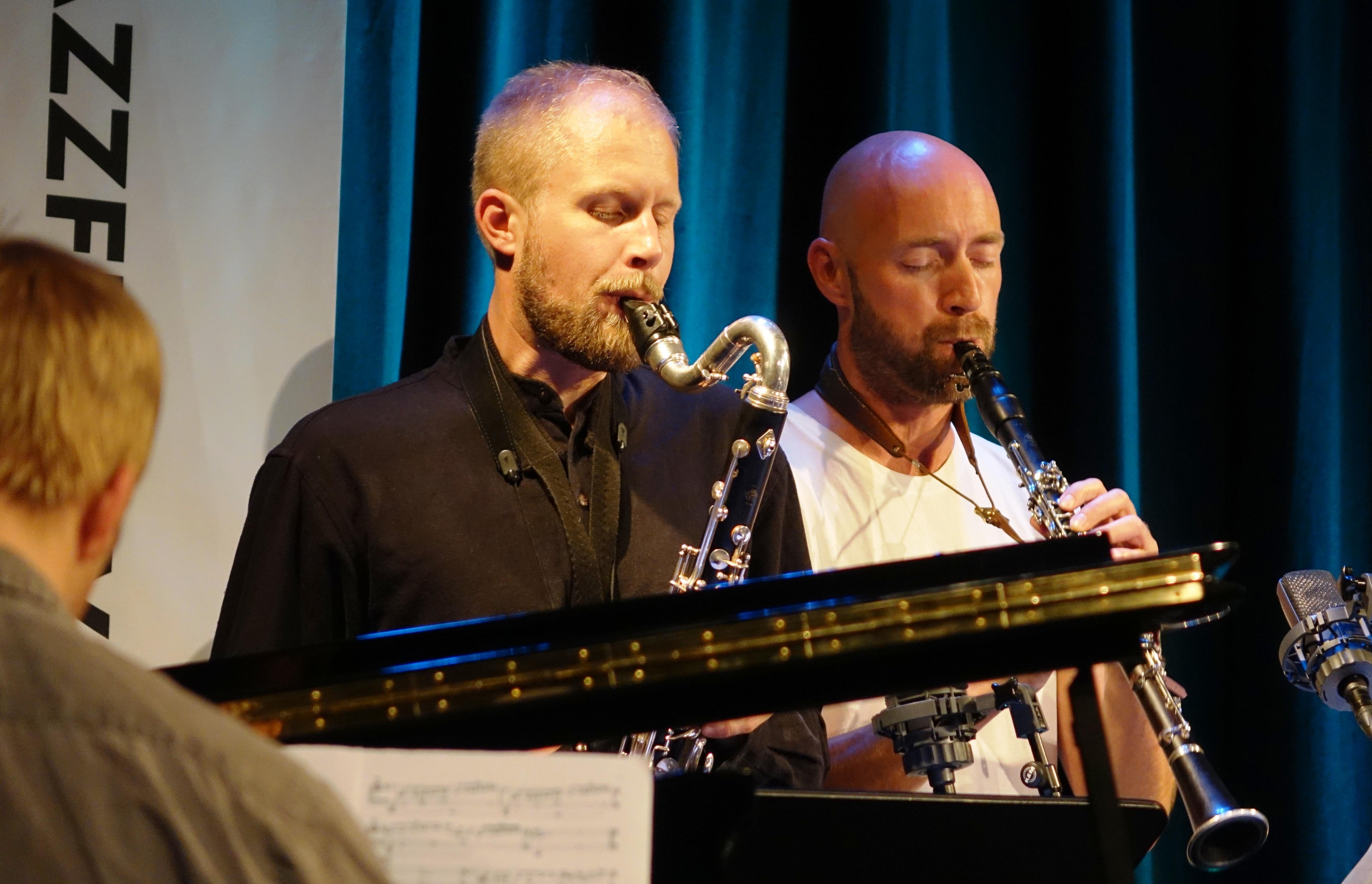 Espen Reinertsen and Erik Hegdal at Nasjonal Jazzscene Victoria, Oslo in August 2018