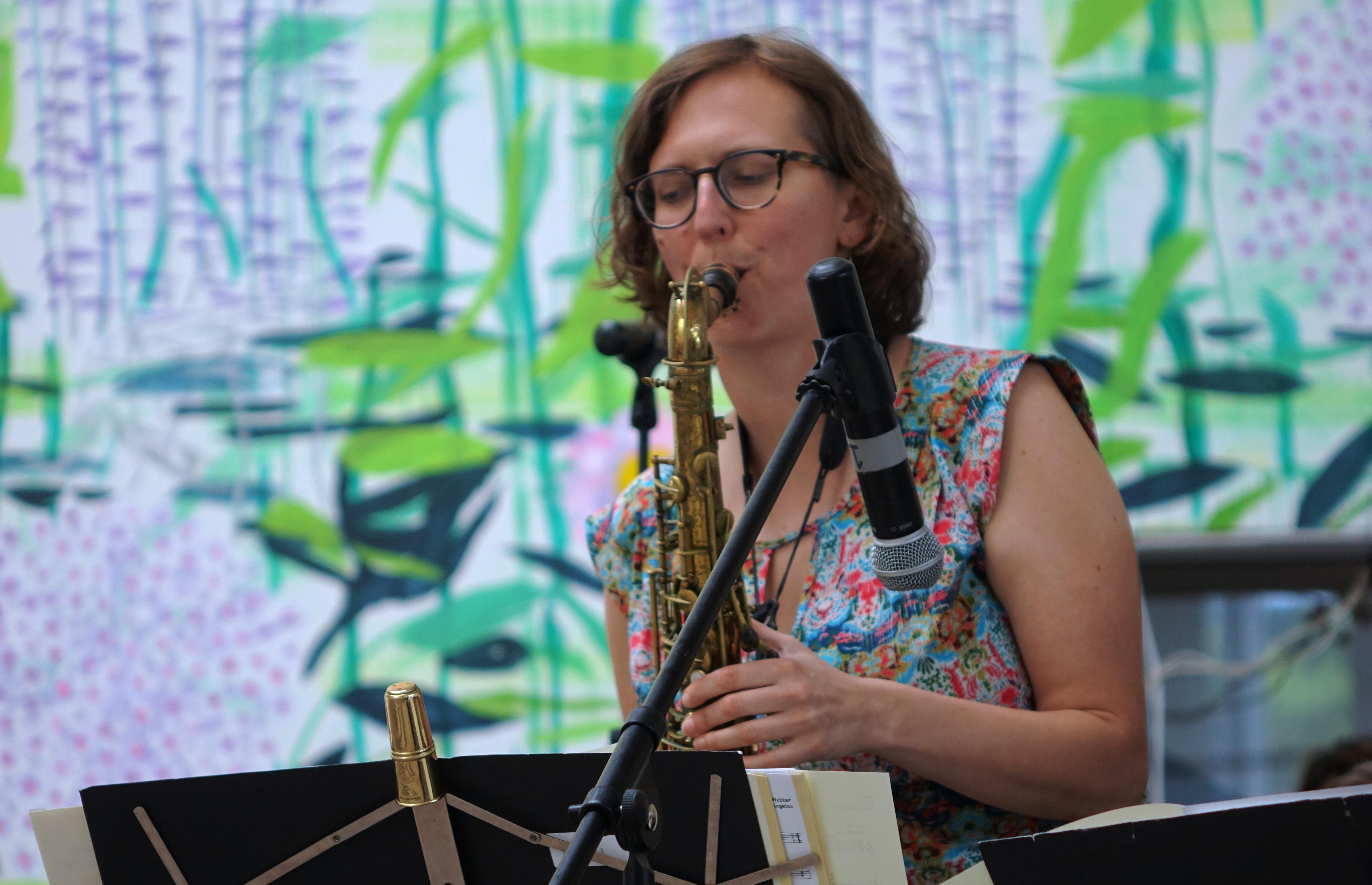 Anna Webber at the Queens Museum, Queens in June 2019