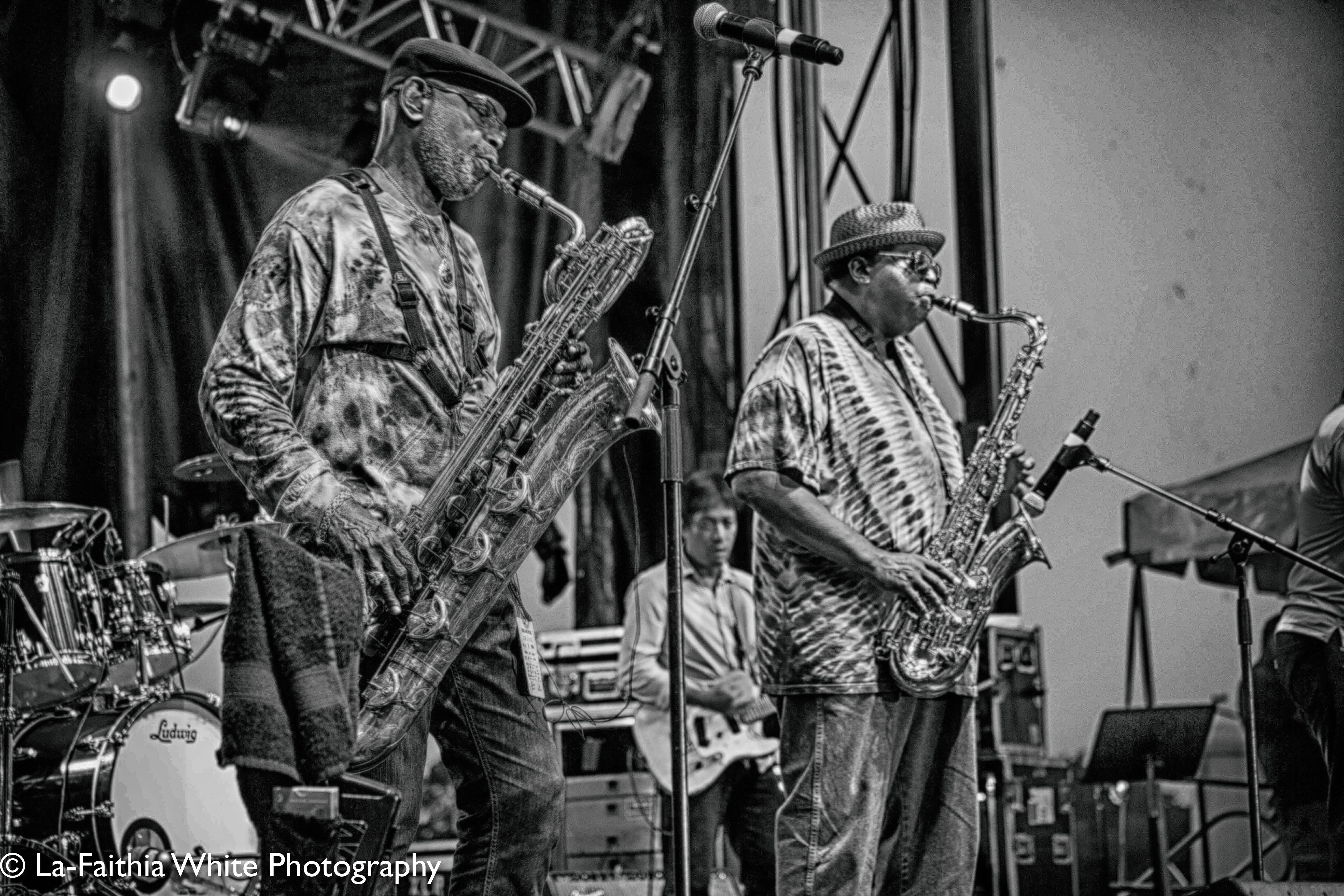 Roger Lewis, Kevin Harris At The 8th Annual John Coltrane International Jazz And Blues Festival