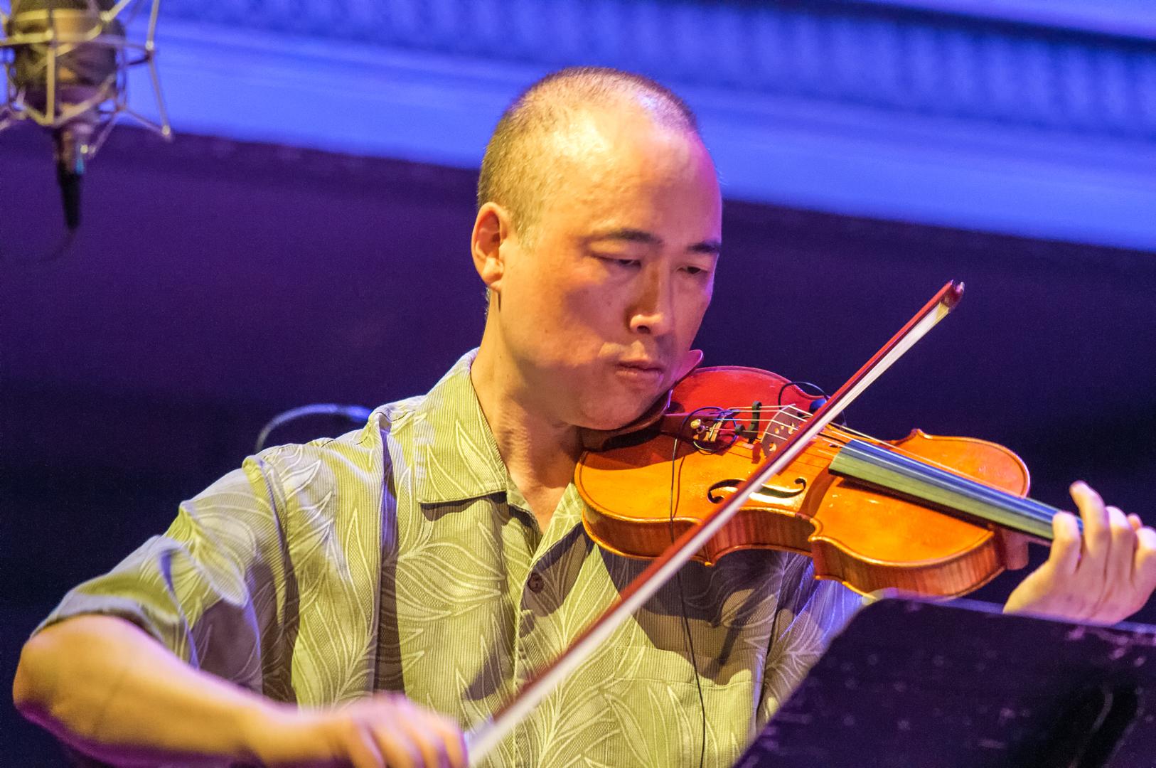 Jason kao hwang with burning bridge at the vision festival 2012
