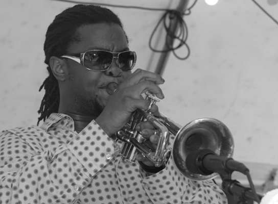 Trumpeter Maurice Brown During the Crescent City/Windy City Jam; Chicago 2006