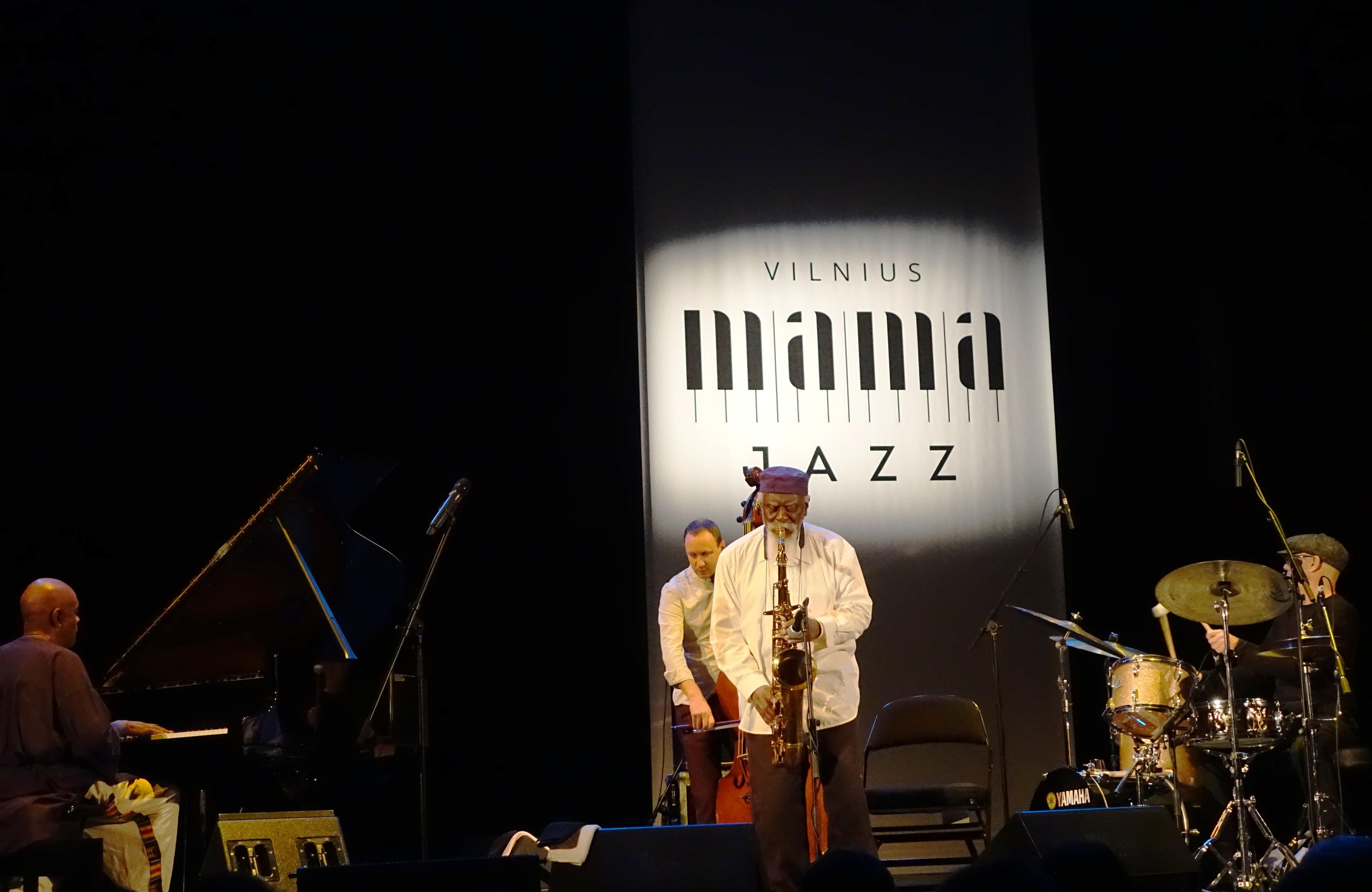 Pharoah Sanders Quartet at the Vilnius Mama Jazz Festival in November 2017