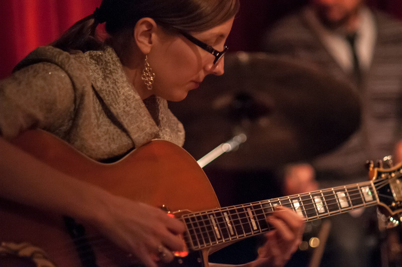 Mary Halvorson with Tomas Fujiwara and the Hook up at Cornelia Street Cafe