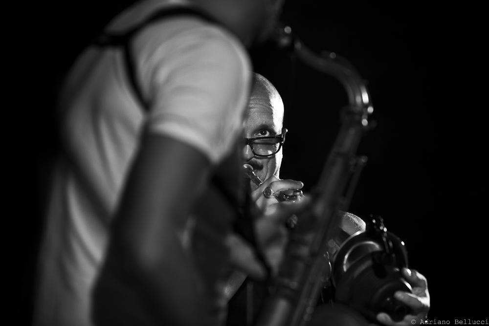 Giovanni Falzone (trumpet) Francesco Bearzatti (sax) at Ortaccio Jazz Festival