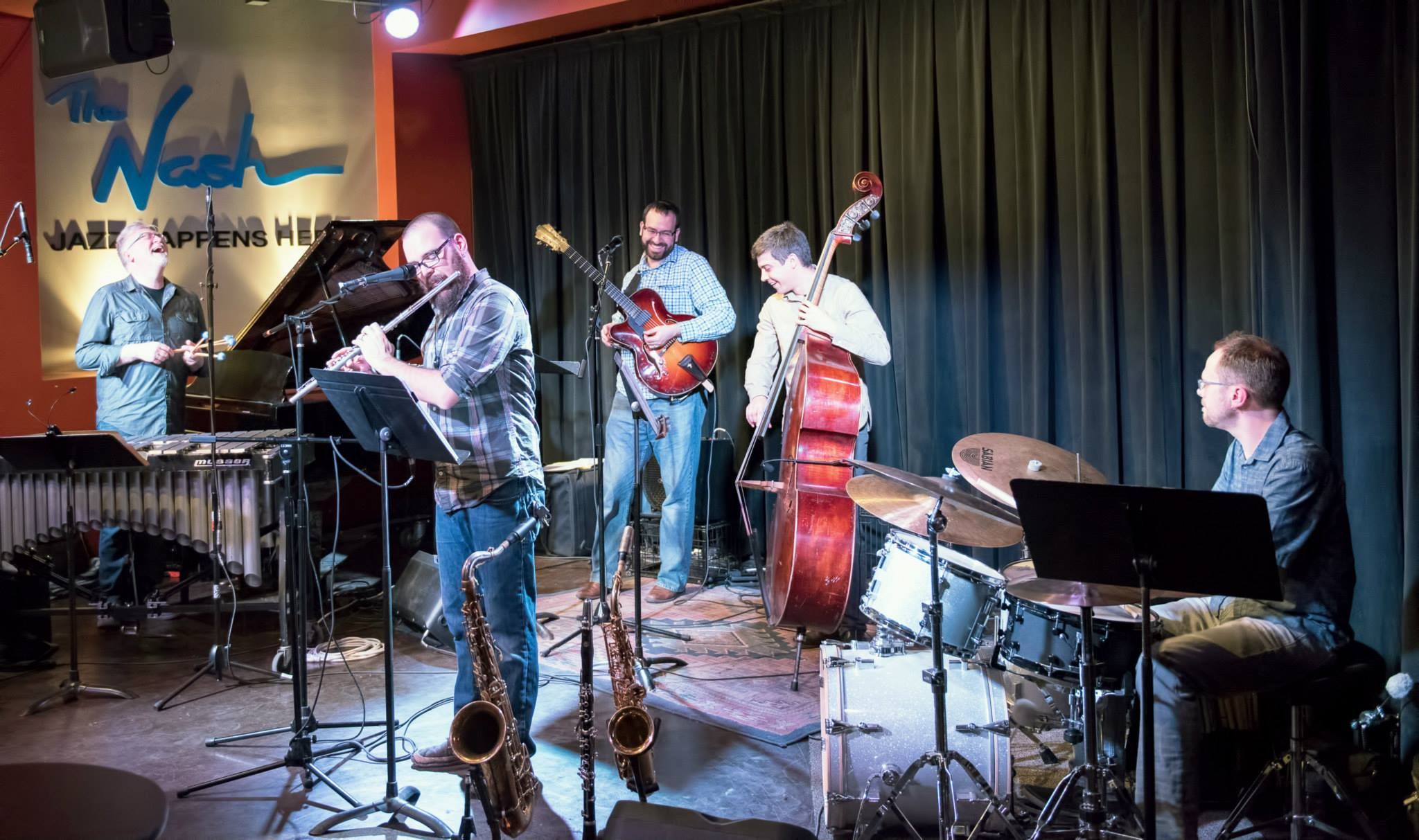 Brett Reed, Keith Kelly, Jeff Libman, Will Goble And Ryan Anthony With The Keith Kelly Quintet At The Nash In Phoenix
