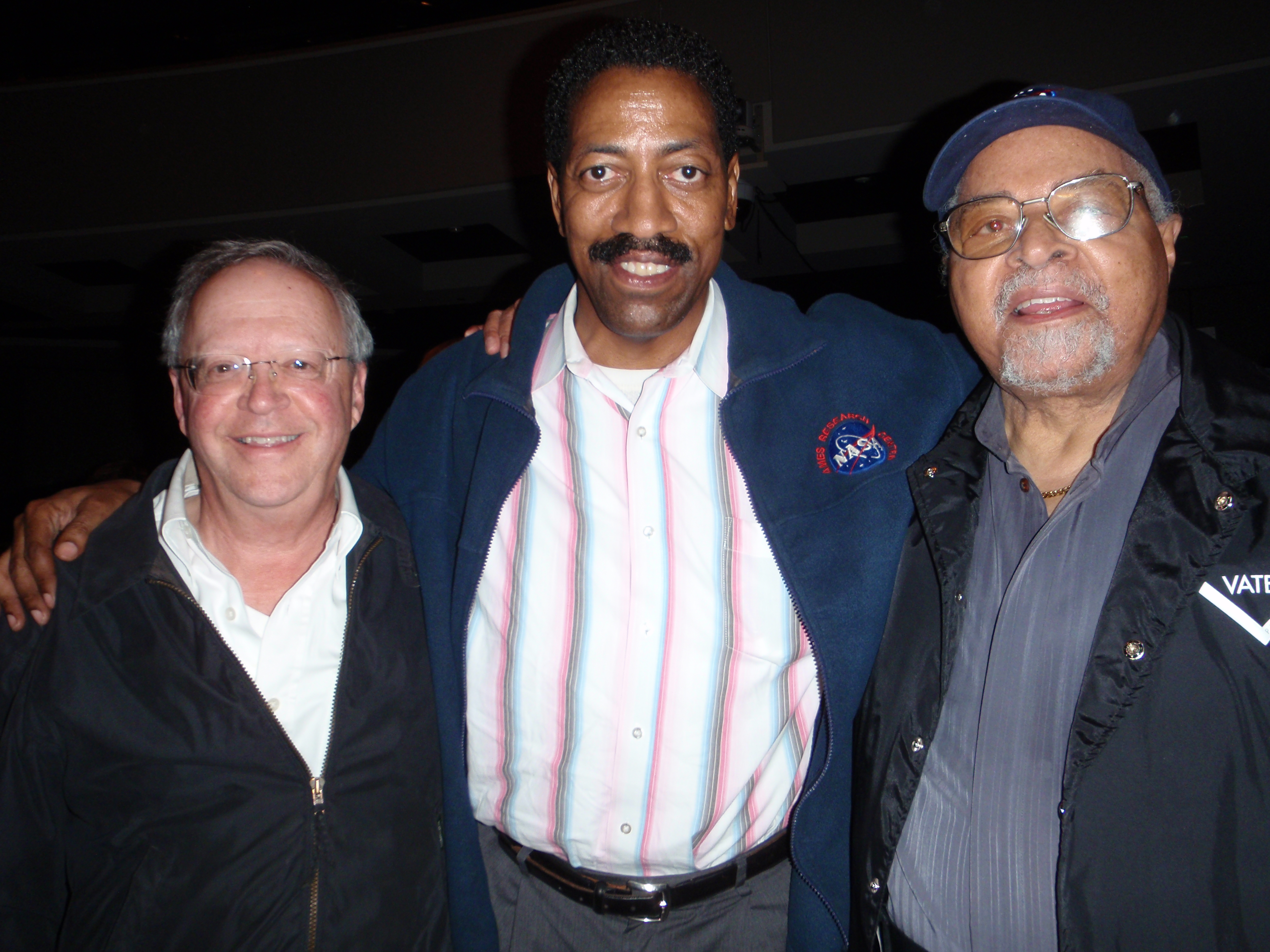 Kenneth Cobb with Bay Area Jazz buddy Dan McClosky and Jimmy Cobb (no relation)