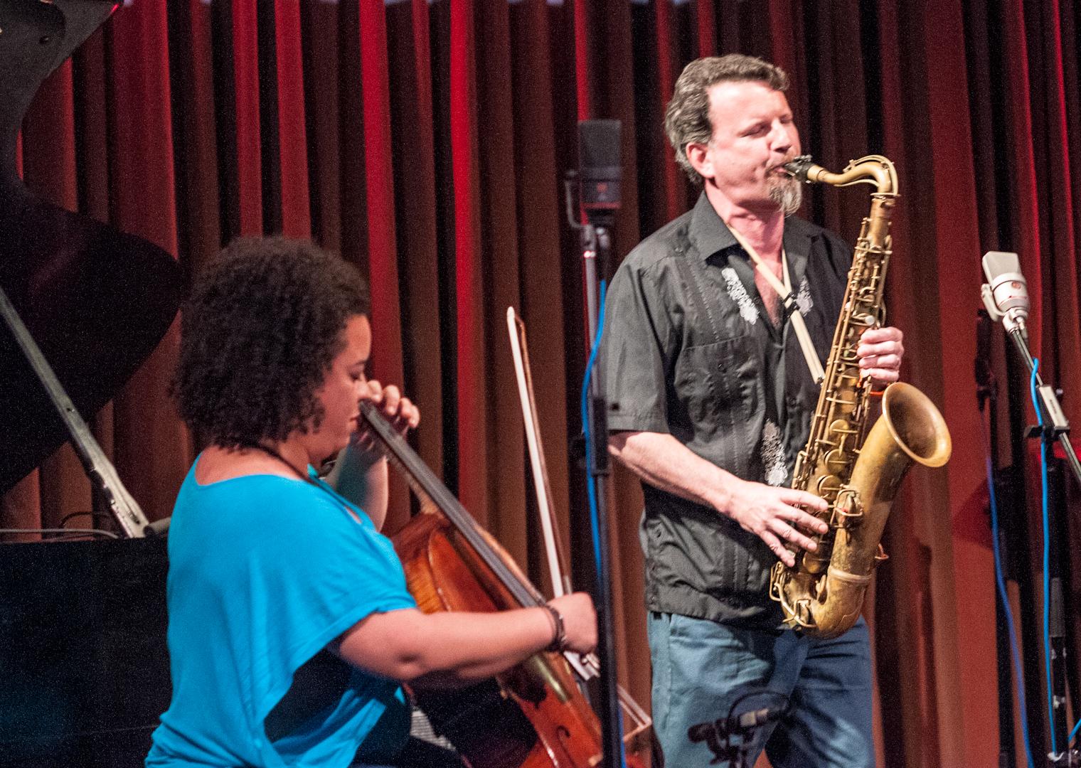 Marika Hughes and Jeff Lederer at the Undead Music Festival