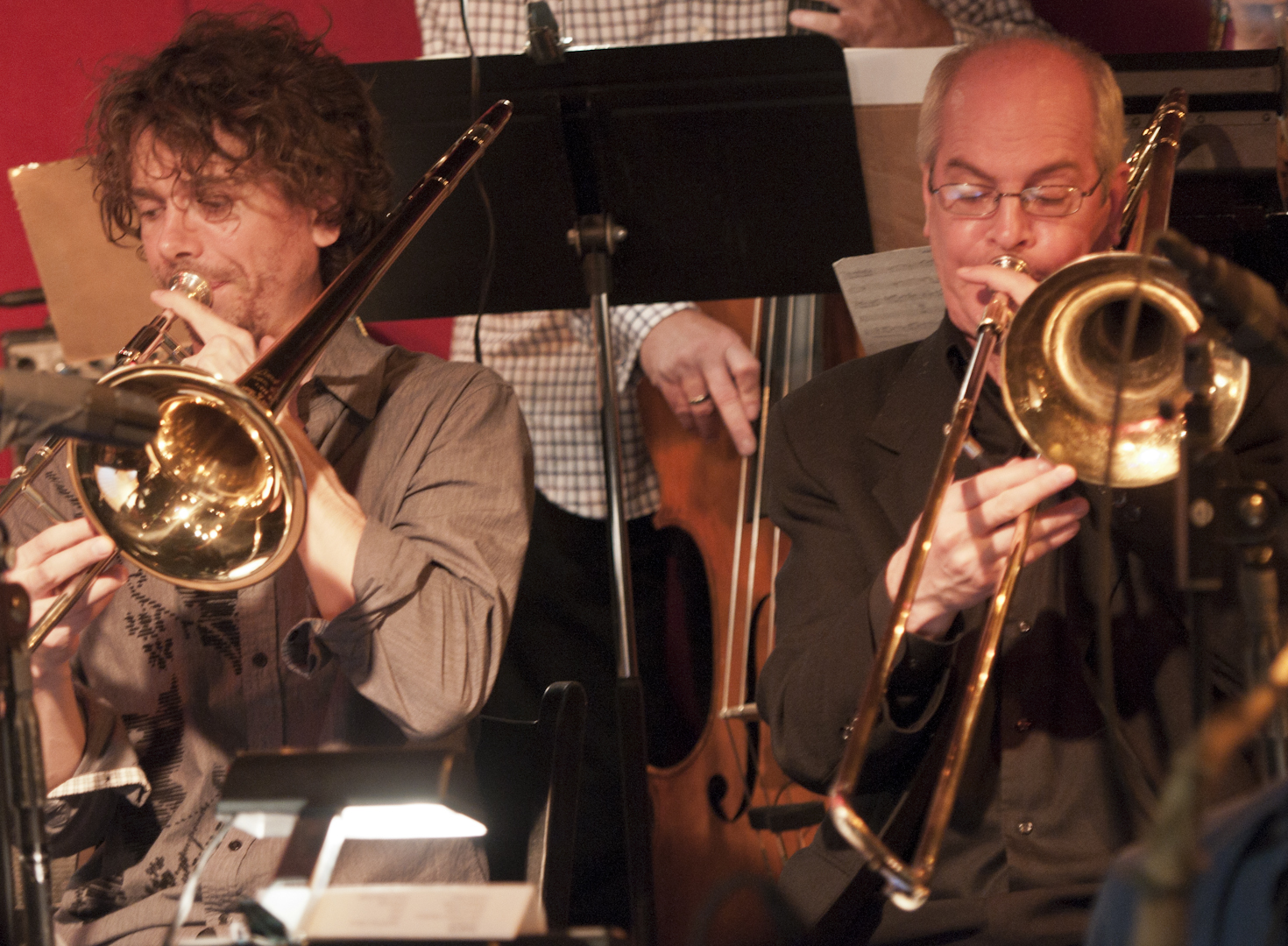 Ryan Keberle and Keith O'Quinn with the Maria Schneider Orchestra at the Jazz Standard