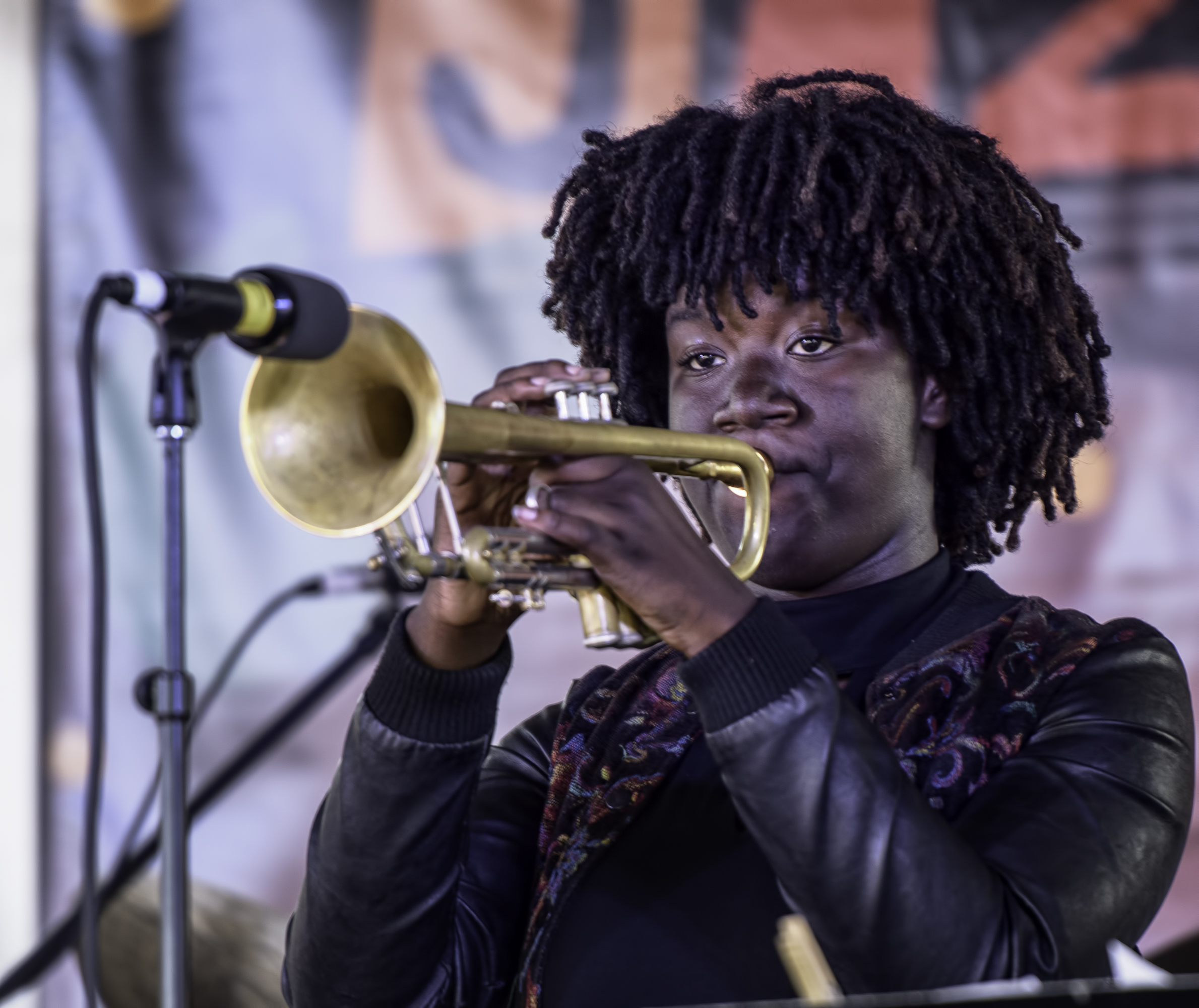 Akili Bradley with the Next Generation Jazz Orchestra at the Monterey Jazz Festival
