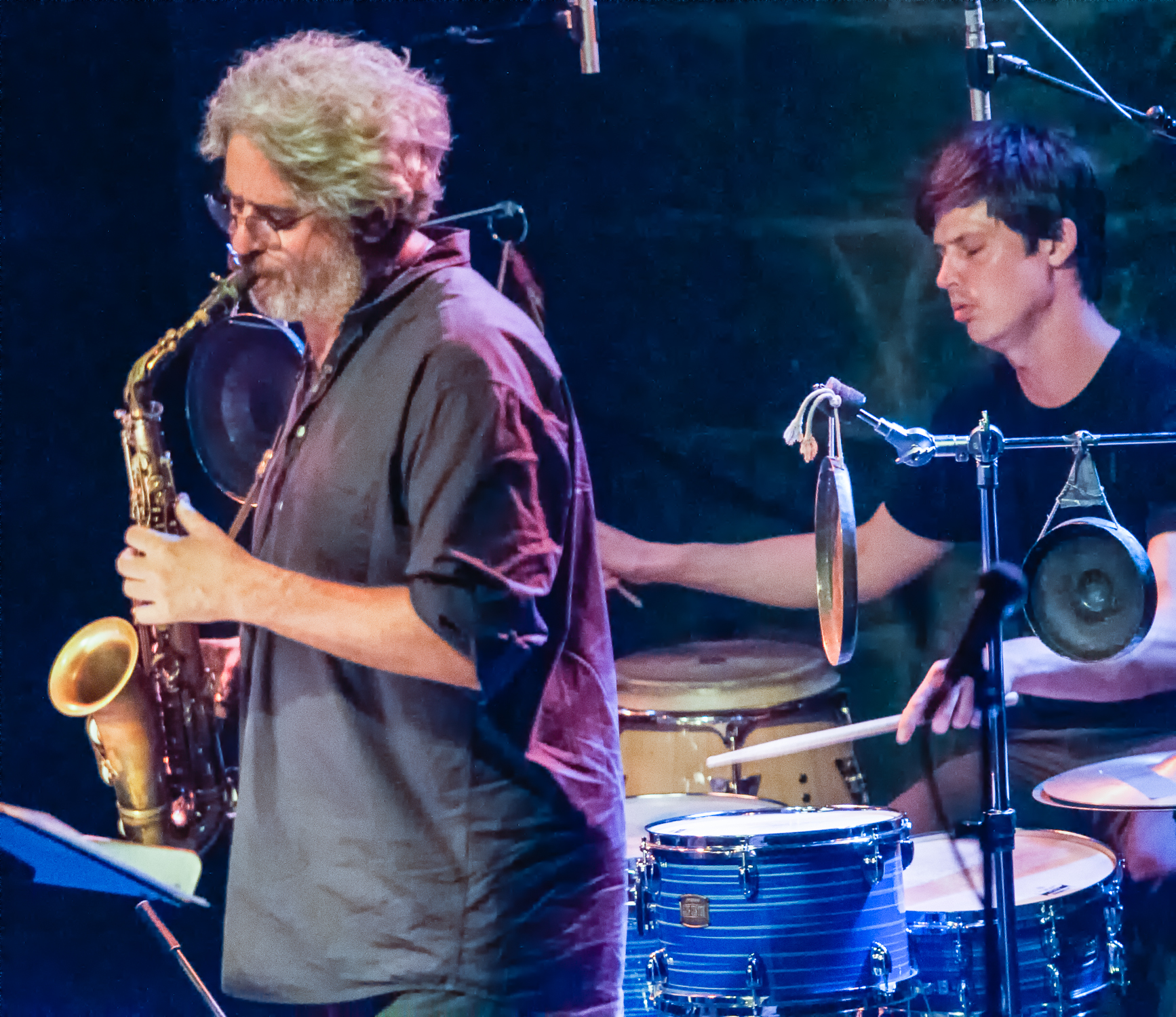 Tim berne and ches smith with snakeoil at the montreal international jazz festival 2013