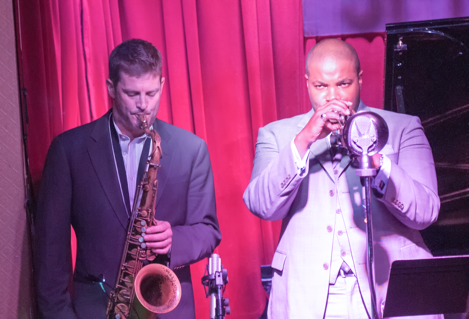Eric alexander and jeremy pelt with one for all at smoke jazz club