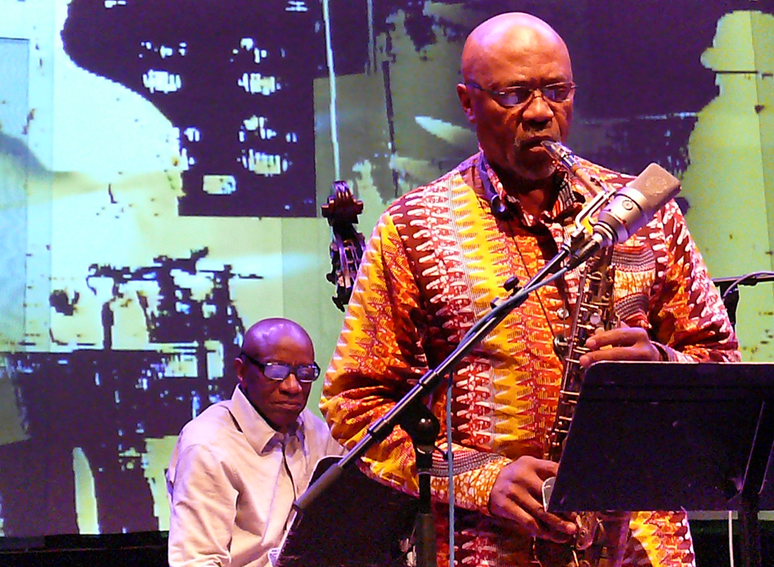Reggie Workman and Oliver Lake at the Vision Festival in June 2012