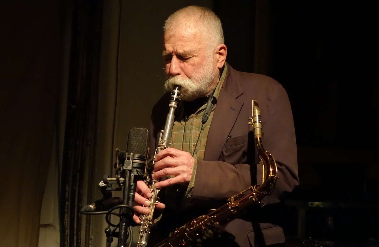 Peter Brötzmann at Cafe Oto, London in March 2018