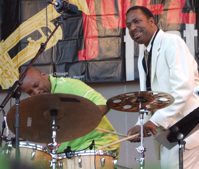 2006 Chicago Jazz Festival, Sunday: John Lamkin (Left) and Donald Harrison