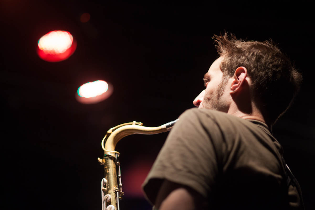 Chris Ward on Alto Saxophone Playing with Musuko Brass Band